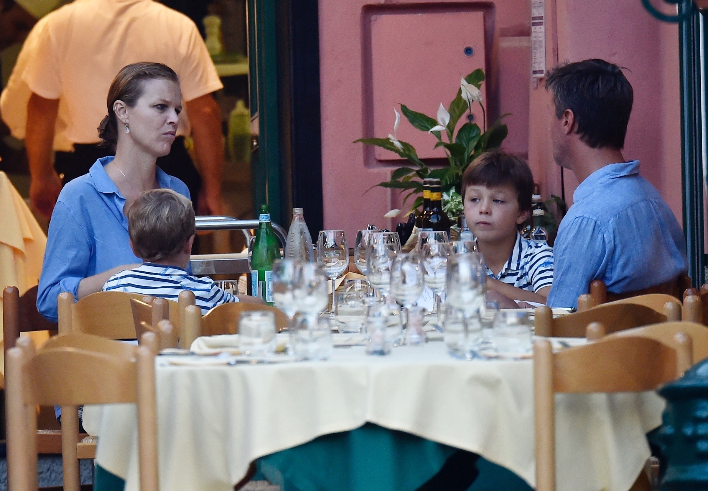 portofino, ITALY  - *EXCLUSIVE*  - Model Eva Herzigova with her husband along with their children on holiday in Portofino  BACKGRID UK 13 SEPTEMBER 2019, Image: 470807285, License: Rights-managed, Restrictions: RIGHTS: NO WEB - WORLDWIDE EXCEPT IN ITALY, Model Release: no, Credit line: Profimedia, Backgrid UK