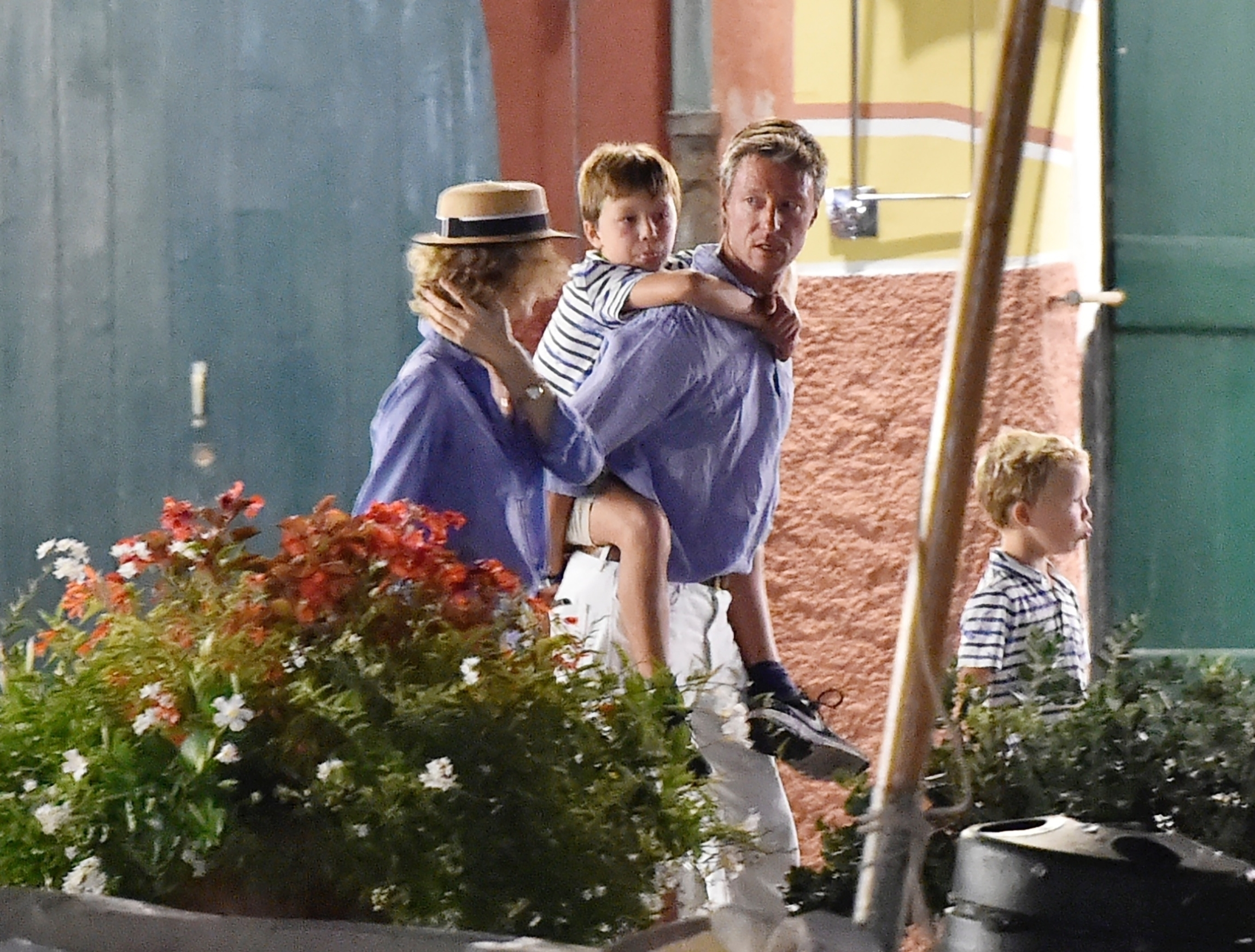 portofino, ITALY  - *EXCLUSIVE*  - Model Eva Herzigova with her husband along with their children on holiday in Portofino  BACKGRID UK 13 SEPTEMBER 2019, Image: 470807330, License: Rights-managed, Restrictions: RIGHTS: NO WEB - WORLDWIDE EXCEPT IN ITALY, Model Release: no, Credit line: Profimedia, Backgrid UK