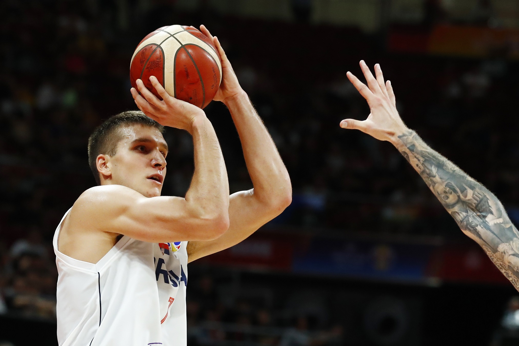 Basketball - FIBA World Cup - Classification Games 5-6 - Serbia v Czech Republic - Wukesong Sport Arena, Beijing, China - September 14, 2019 Serbia's Bogdan Bogdanovic in action REUTERS/Thomas Peter