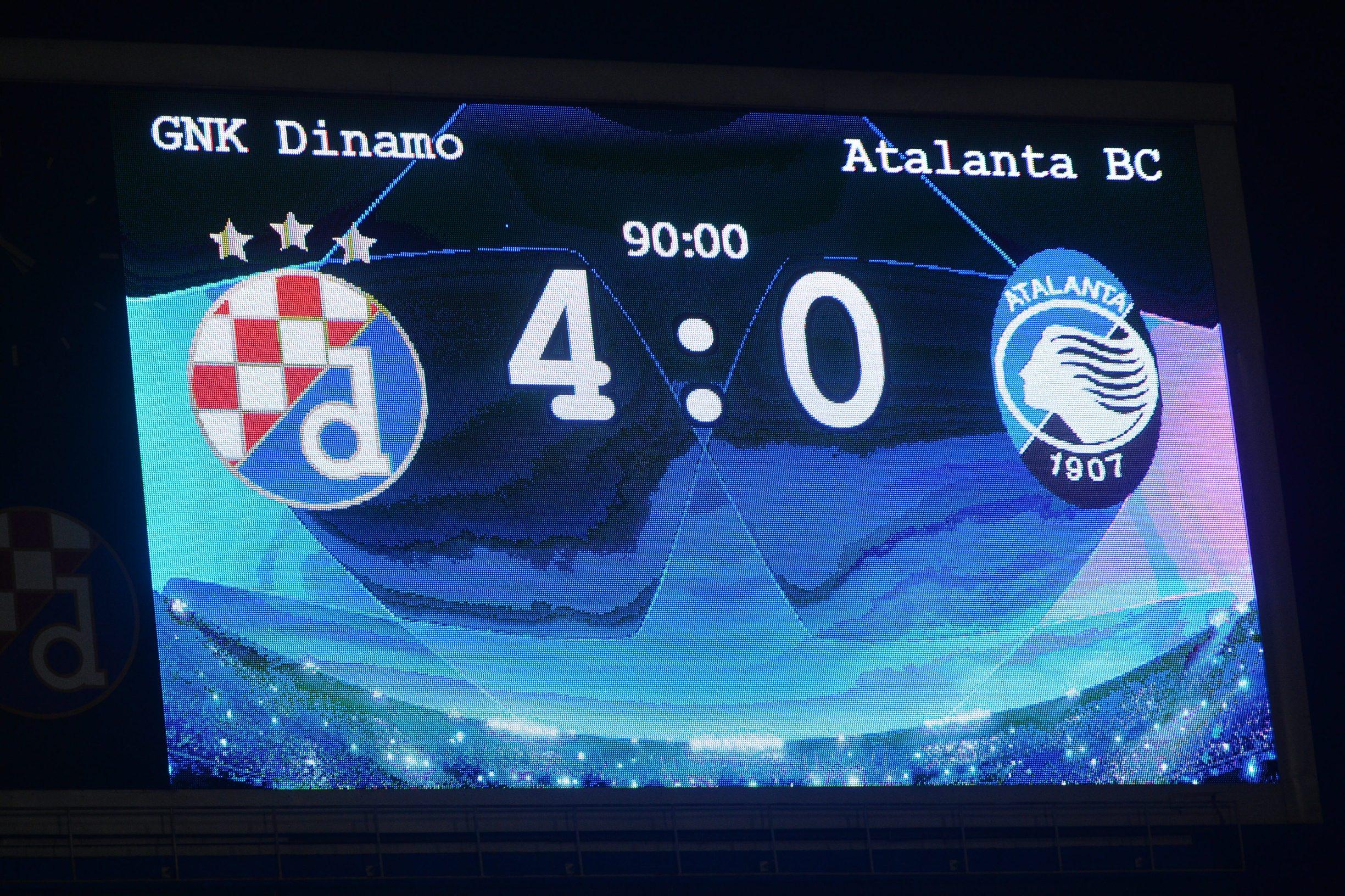 Dinamo - Atalanta 4:0
