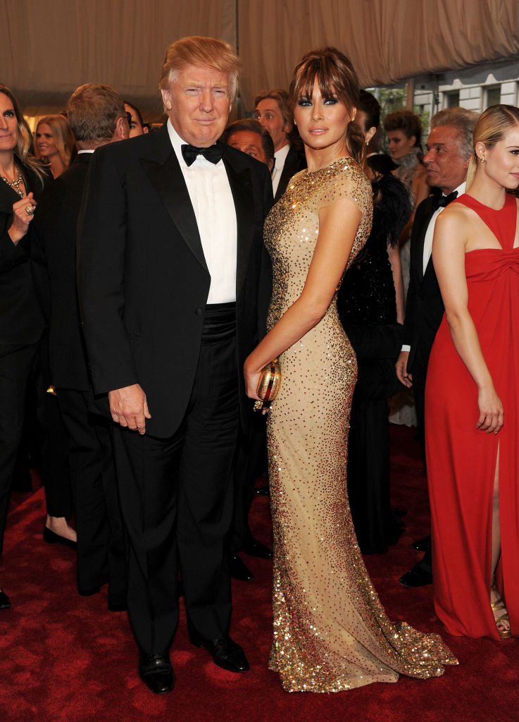 NEW YORK, NY - MAY 02:  Donald Trump and Melania Trump-Trump attend the