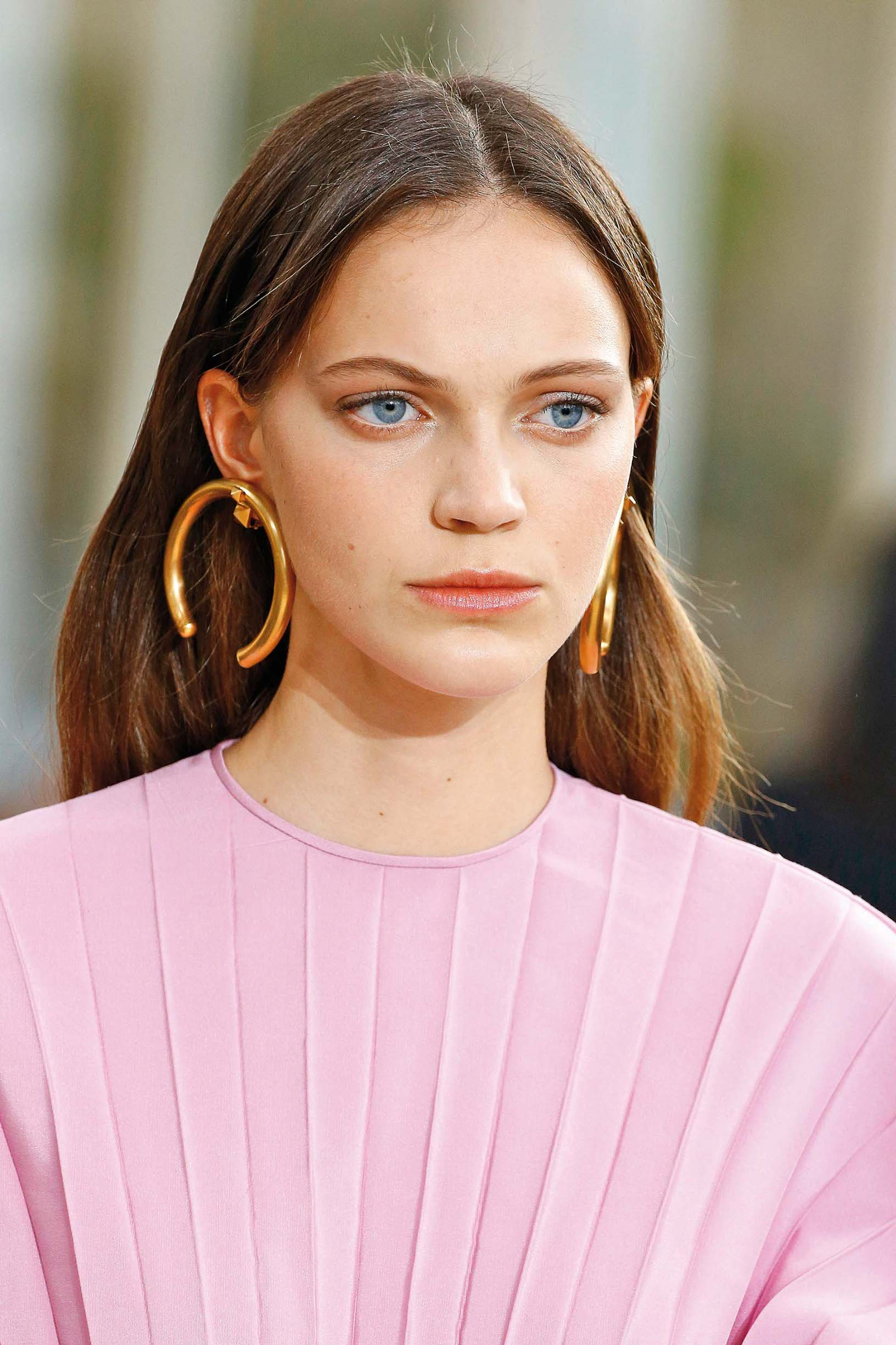 Jewelry detail during the Valentino show as part of the Paris Fashion Week Womenswear Spring/Summer 2019 on September 30, 2018 in Paris, France.