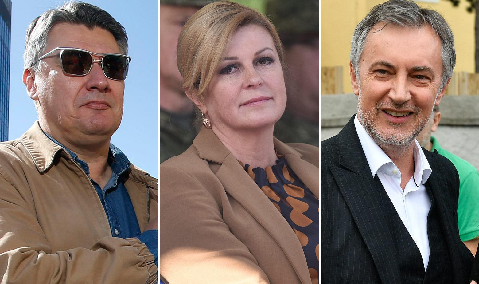 Zoran Milanović, Kolinda Grabar Kitarović, Miroslav Škoro