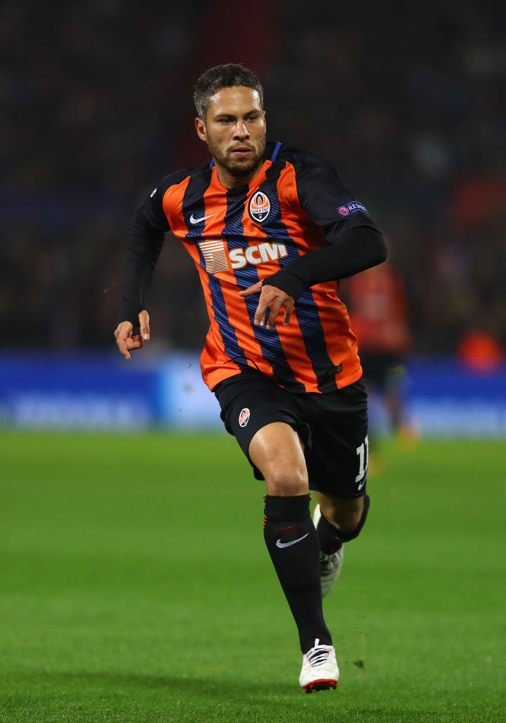 ROTTERDAM, NETHERLANDS - OCTOBER 17:  Marlos of Shakhtar Donetsk in action during the UEFA Champions League group F match between Feyenoord and Shakhtar Donetsk at Feijenoord Stadion on October 17, 2017 in Rotterdam, Netherlands.  (Photo by Dean Mouhtaropoulos/Getty Images)