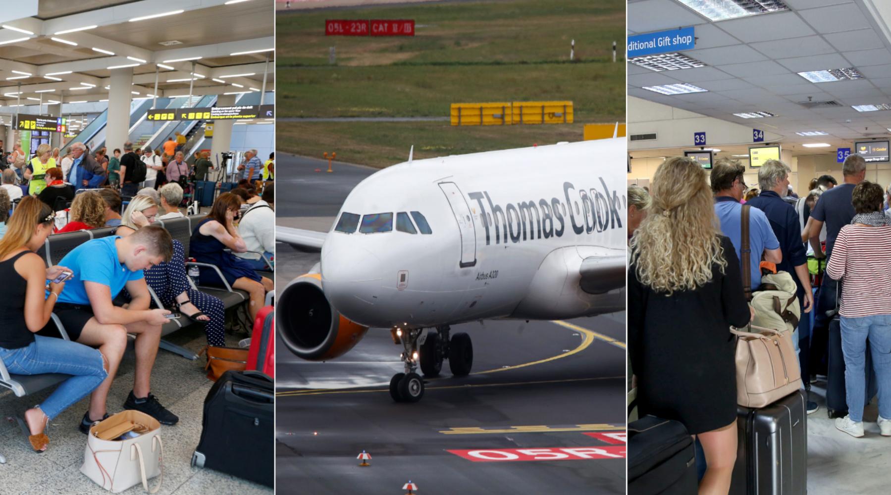 Gužve na zračnim lukama/ Avion Thomas Cook