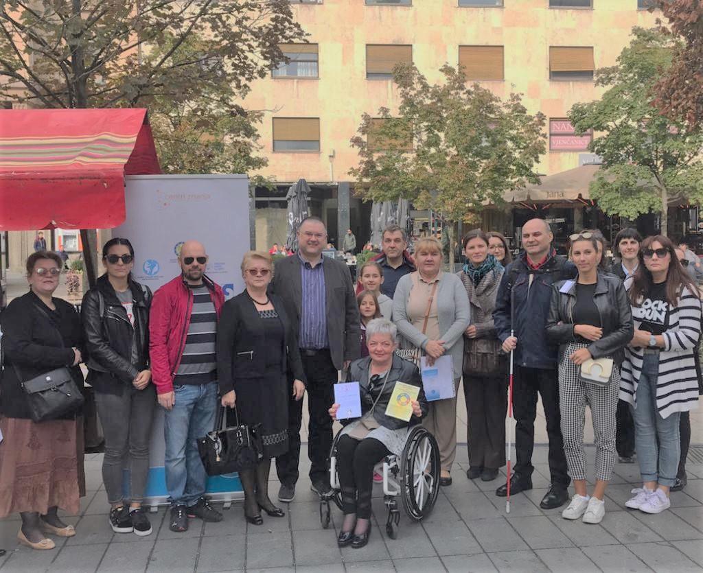 Predstavljanje novog zakona o pristupačnosti internetskih stranica za osobe s invaliditetom na Cvjetnom trgu u Zagrebu, 22.09.2019.