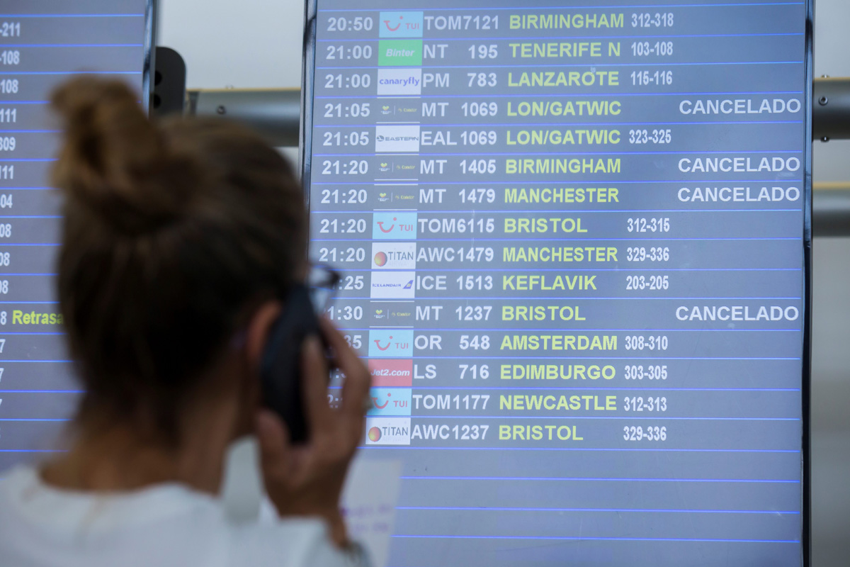 Thomas Cook passengers are seen at Las Palmas Airport after the world's oldest travel firm collapsed on Monday, stranding hundreds of thousands of holidaymakers around the globe and sparking the largest peacetime repatriation effort in British historyinLasPalmas, Canary Islands, Gran Canaria, Spain September 23, 2019. REUTERS/Borja Suarez