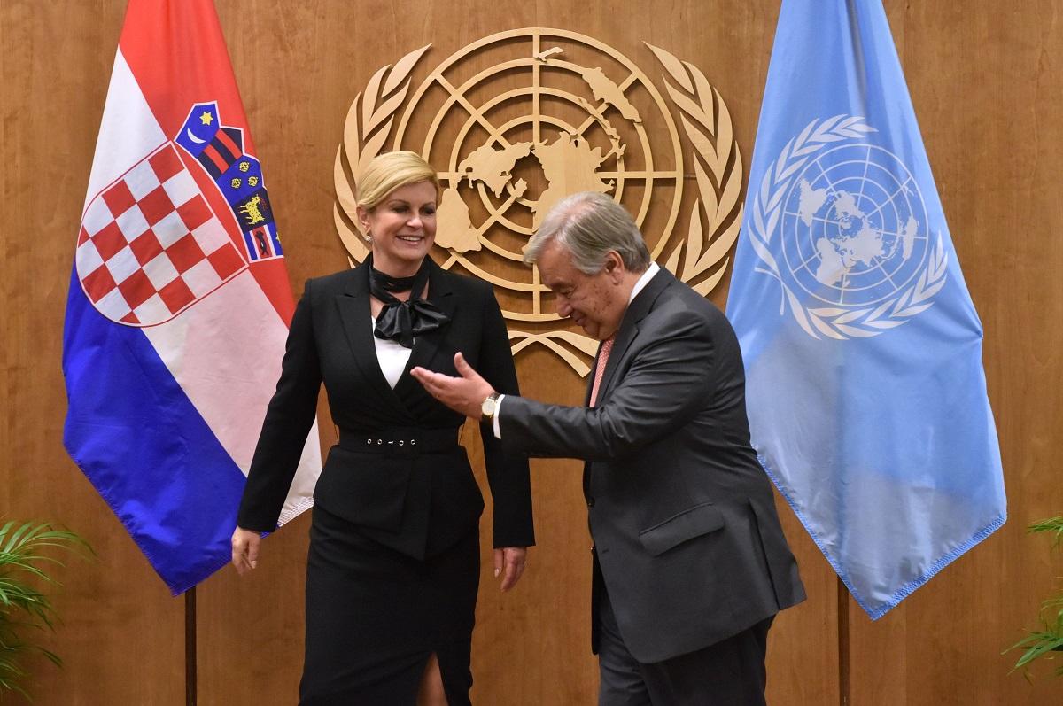 Kolinda Grabar-Kitarović i Antonio Guterres