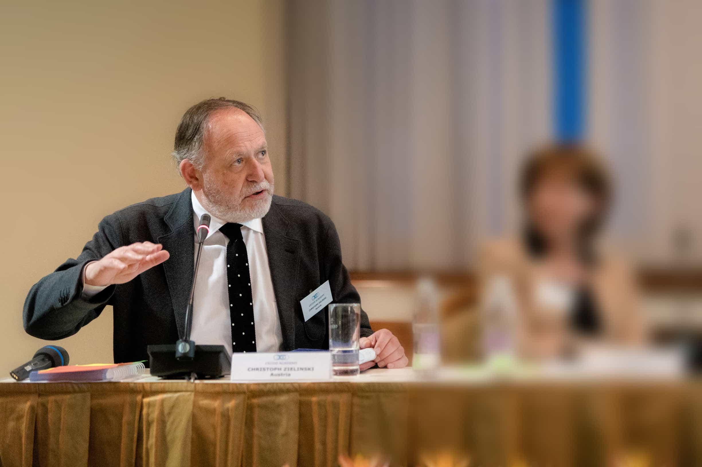 Cristoph Zielinski,  predsjednik Srednjoeuropske kooperativne onkološke grupacije (CECOG)