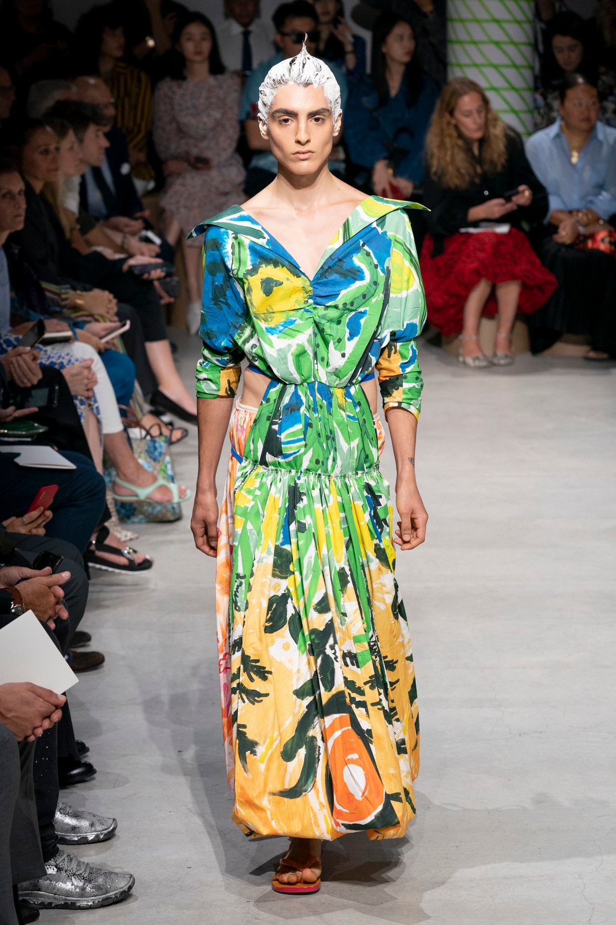 Marni catwalk fashion show SS20 s2020 at Milan Fashion Week,  Milano, Italy in September 2019.., Image: 472240369, License: Rights-managed, Restrictions: , Model Release: no, Credit line: Profimedia, Capital pictures, Rick Gold