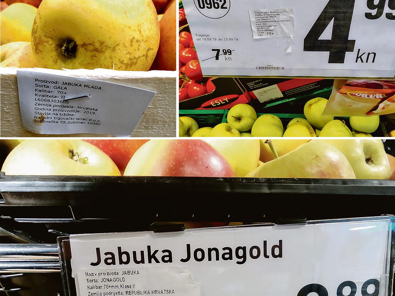 Ilustracija, voće u trgovinama