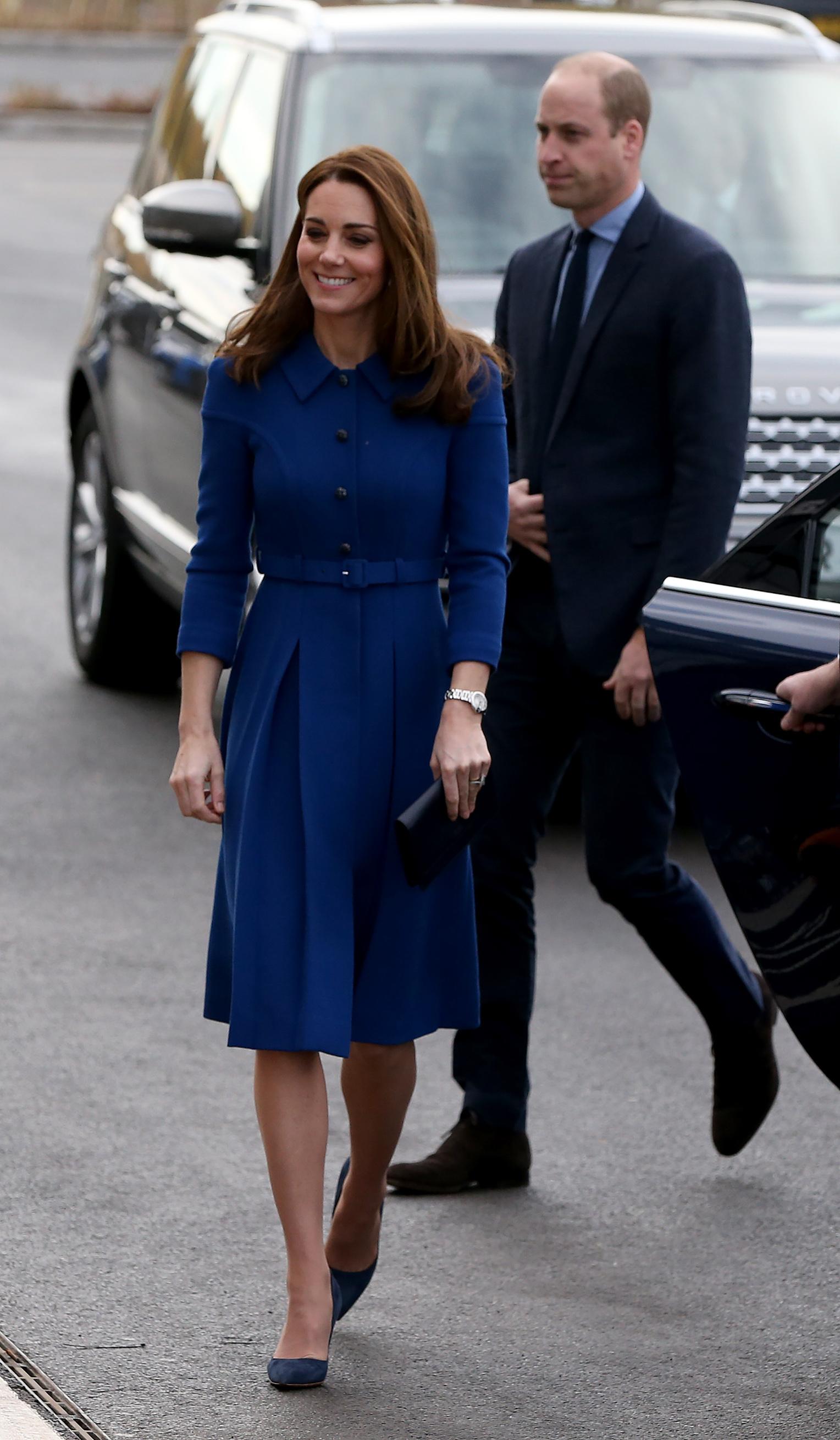 ROTHERHAM, ENGLAND - NOVEMBER 14: Catherine, Duchess Of Cambridge and Prince William, Duke of Cambridge visit McLaren Automotive Composites Technology Centre on November 14, 2018 in Rotherham, England. (Photo by Nigel Roddis/Getty Images)
