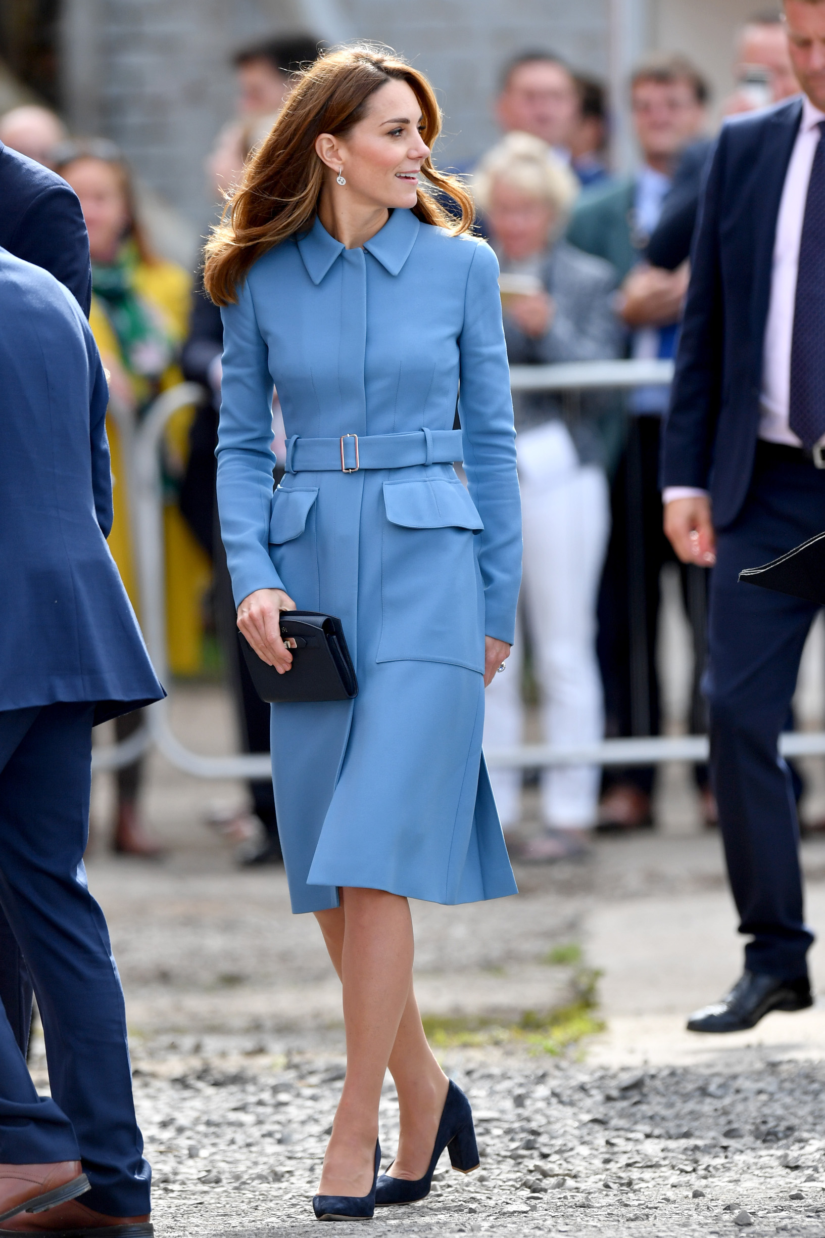 BIRKENHEAD, ENGLAND - SEPTEMBER 26: Catherine, Duchess of Cambridge attend the naming ceremony for The RSS Sir David Attenborough on September 26, 2019 in Birkenhead, England. (Photo by Anthony Devlin/Getty Images)