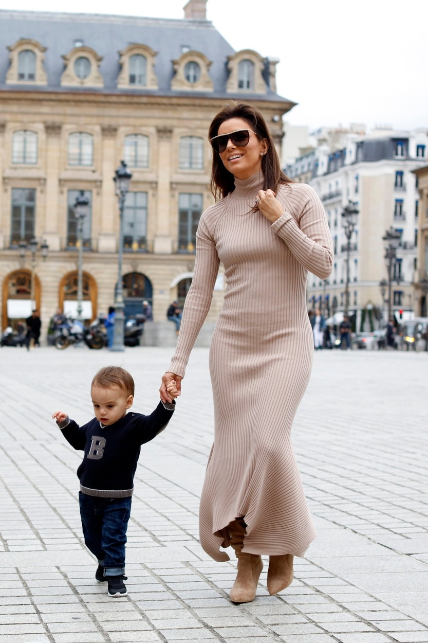 Paris, FRANCE  -  The American Actress Eva Longoria and her son Santiago Enrique Baston enjoy some mother and son time at the Place Vendome in the French capital during Paris Fashion Week.  BACKGRID UK 25 SEPTEMBER 2019, Image: 473172042, License: Rights-managed, Restrictions: , Model Release: no, Credit line: Profimedia, Backgrid UK, BACKGRID