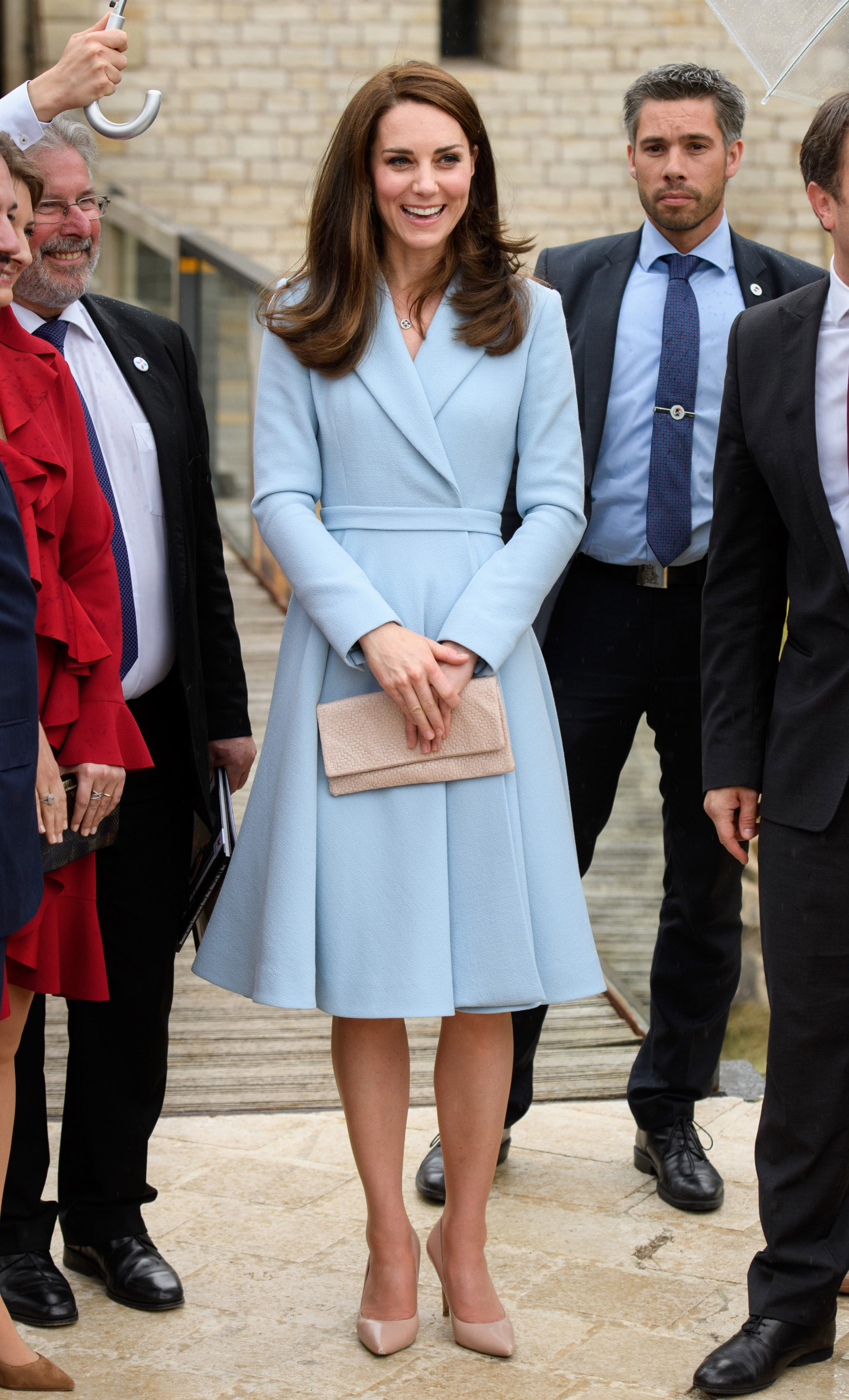 LUXEMBOURG - MAY 11:  Catherine, Duchess of Cambridge  visits the  Drai Eechelen Museum during a one day visit on May 11, 2017 in Luxembourg. The Duchess will attend a series of engagements to celebrate the cultural and historic ties between the UK and Luxembourg and the official commemoration of the 1867 Treaty of London, which confirmed Luxembourg's independence and neutrality.  (Photo by Tim Rooke - Pool/Getty Images)
