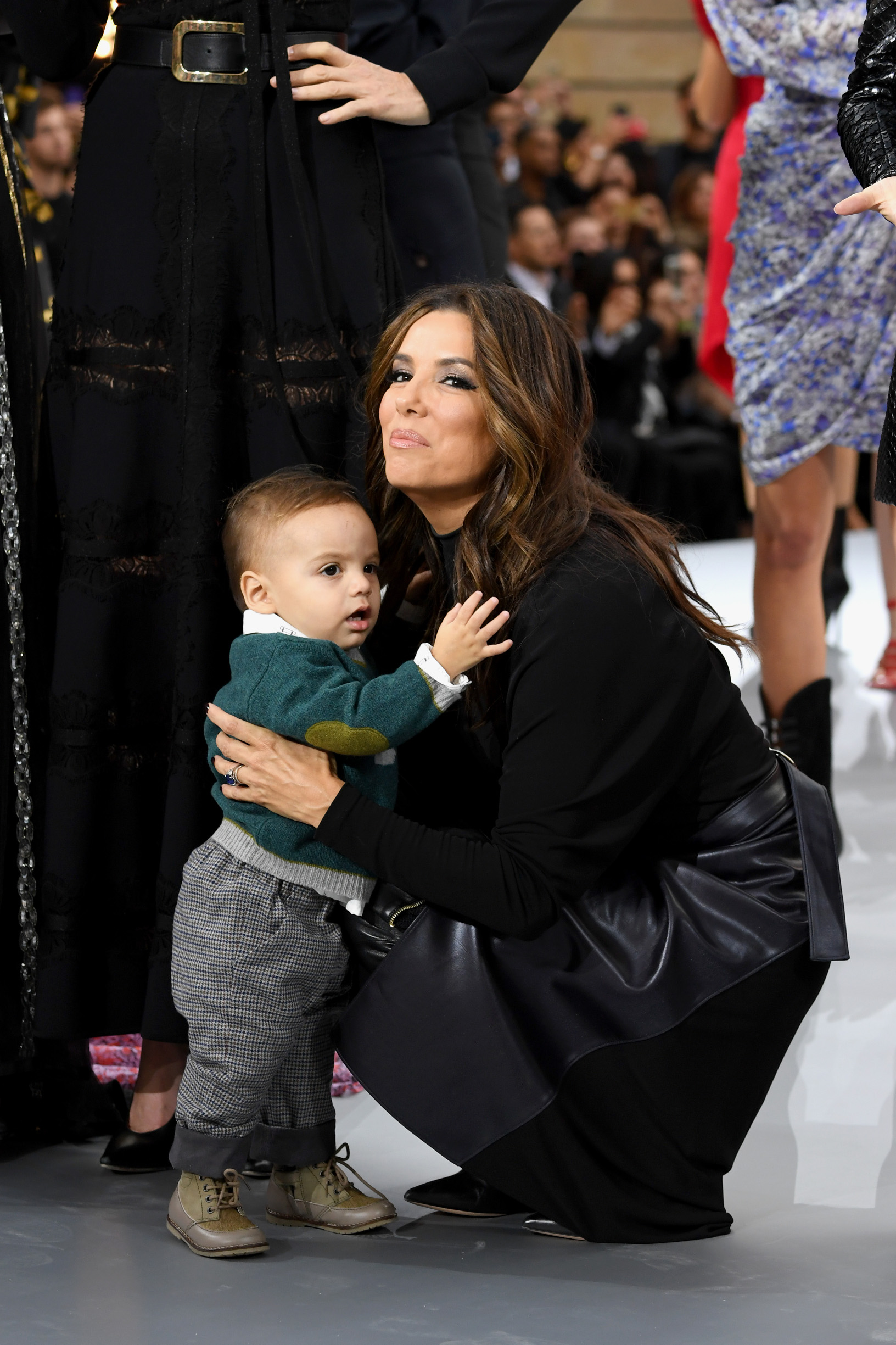 Eva Longoria i sin Santiago