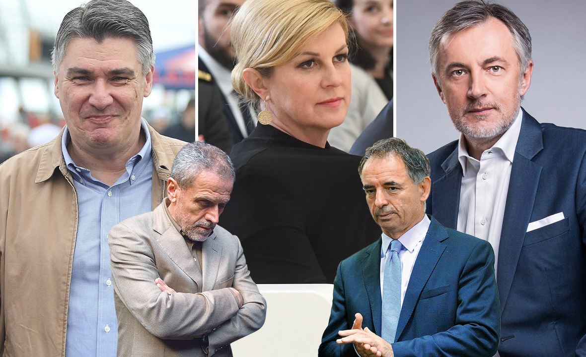 Zoran Milanović, Kolinda Grabar Kitarović, Miroslav Škoro, Milan Bandić i Milorad Pupovac