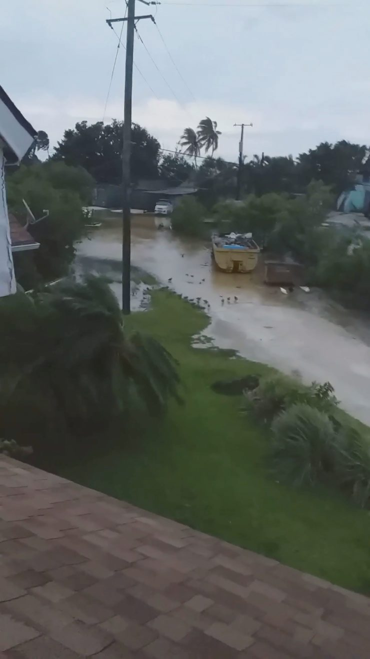 Strong winds and rain hit New Providence Island, Bahamas September 2, 2019 in this still image taken from a video by social media. National Fisheries Association of the Bahamas via REUTERS THIS IMAGE HAS BEEN SUPPLIED BY A THIRD PARTY. NO RESALES. NO ARCHIVES. MANDATORY CREDIT