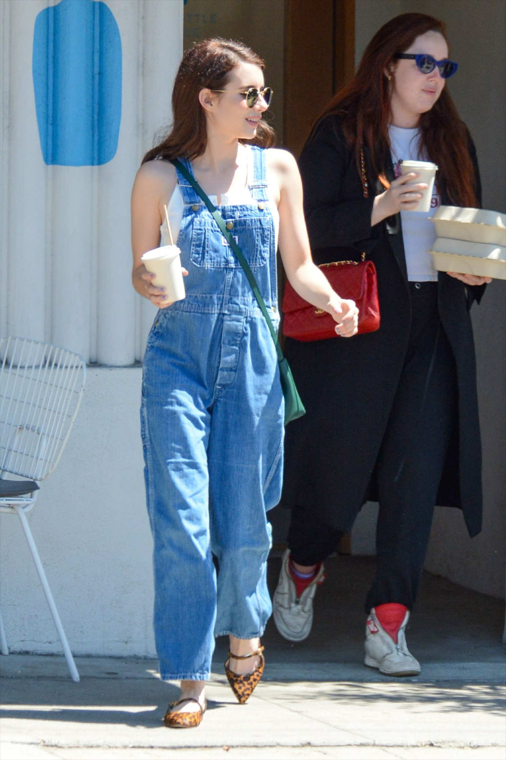 -Los Angeles, CA - 20190831 -   Emma Roberts looks adorable in denim dungarees as she is seen on a coffee run.   -PICTURED: Emma Roberts -, Image: 468411970, License: Rights-managed, Restrictions: , Model Release: no, Credit line: Profimedia, INSTAR Images
