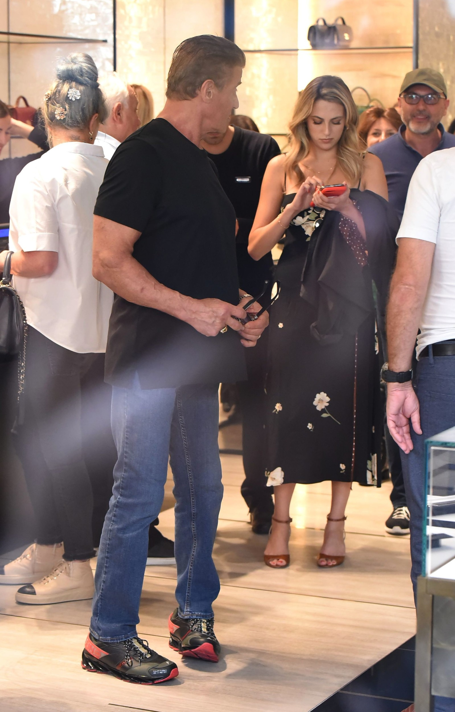 Sylvester Stallone and Sophia Rose Stallone Sylvester Stallone out and about, Rome, Italy - 03 Sep 2019, Image: 469015769, License: Rights-managed, Restrictions: , Model Release: no, Credit line: Profimedia, Shutterstock Editorial