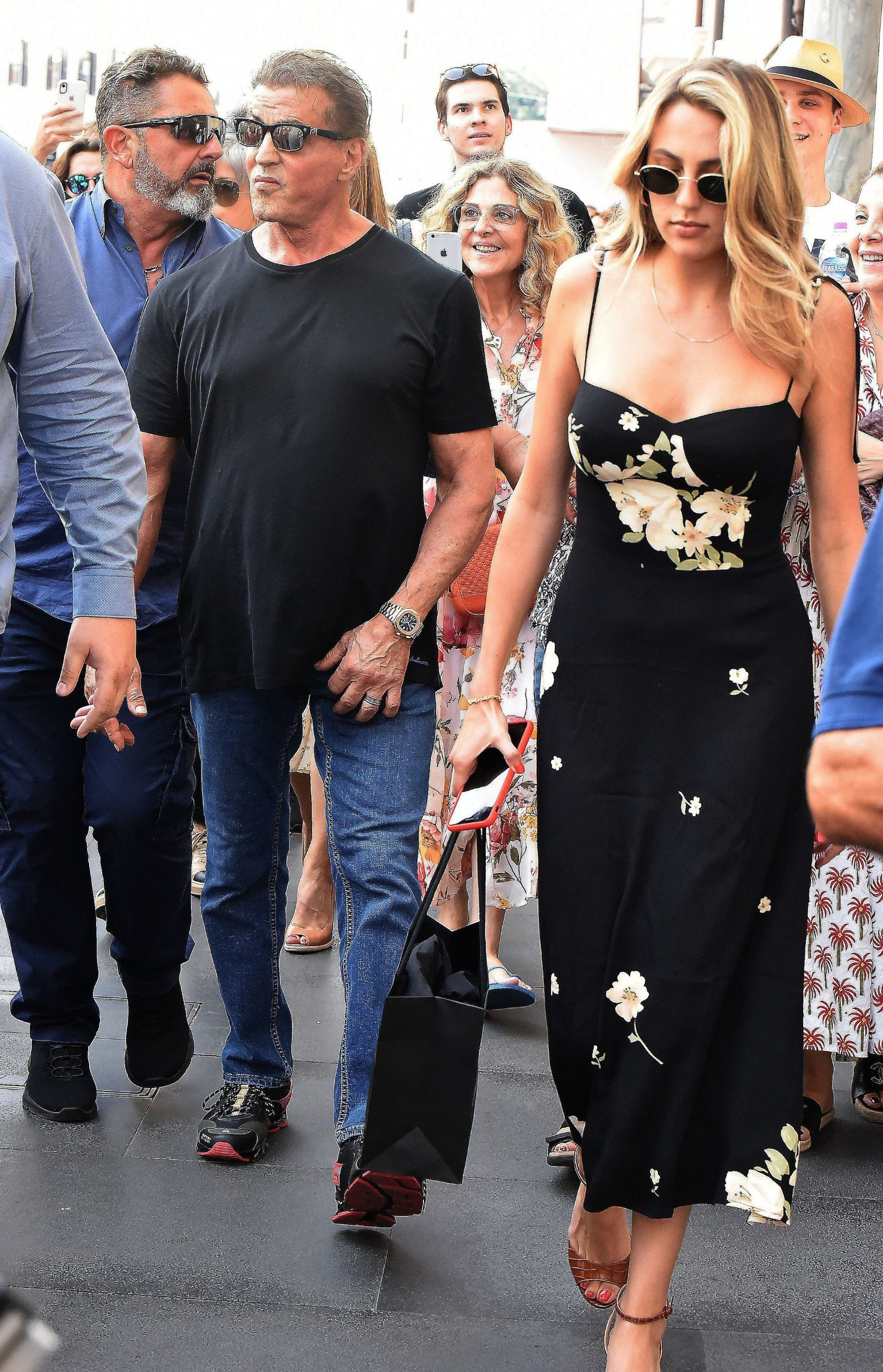 Sylvester Stallone and Sophia Rose Stallone Sylvester Stallone out and about, Rome, Italy - 03 Sep 2019, Image: 469015840, License: Rights-managed, Restrictions: , Model Release: no, Credit line: Profimedia, Shutterstock Editorial