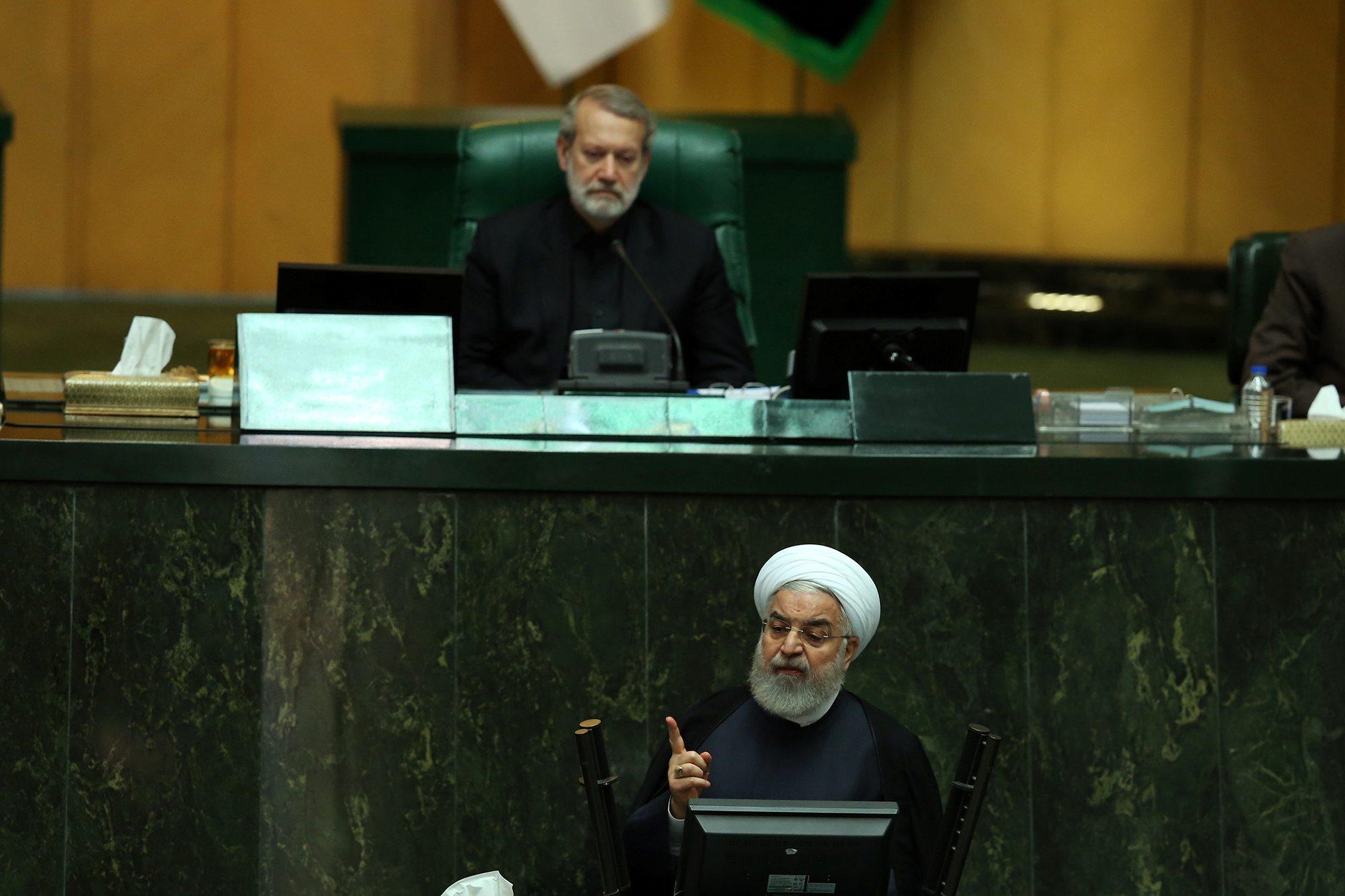 Iranski predsjednik Hassan Rouhani u parlamentu