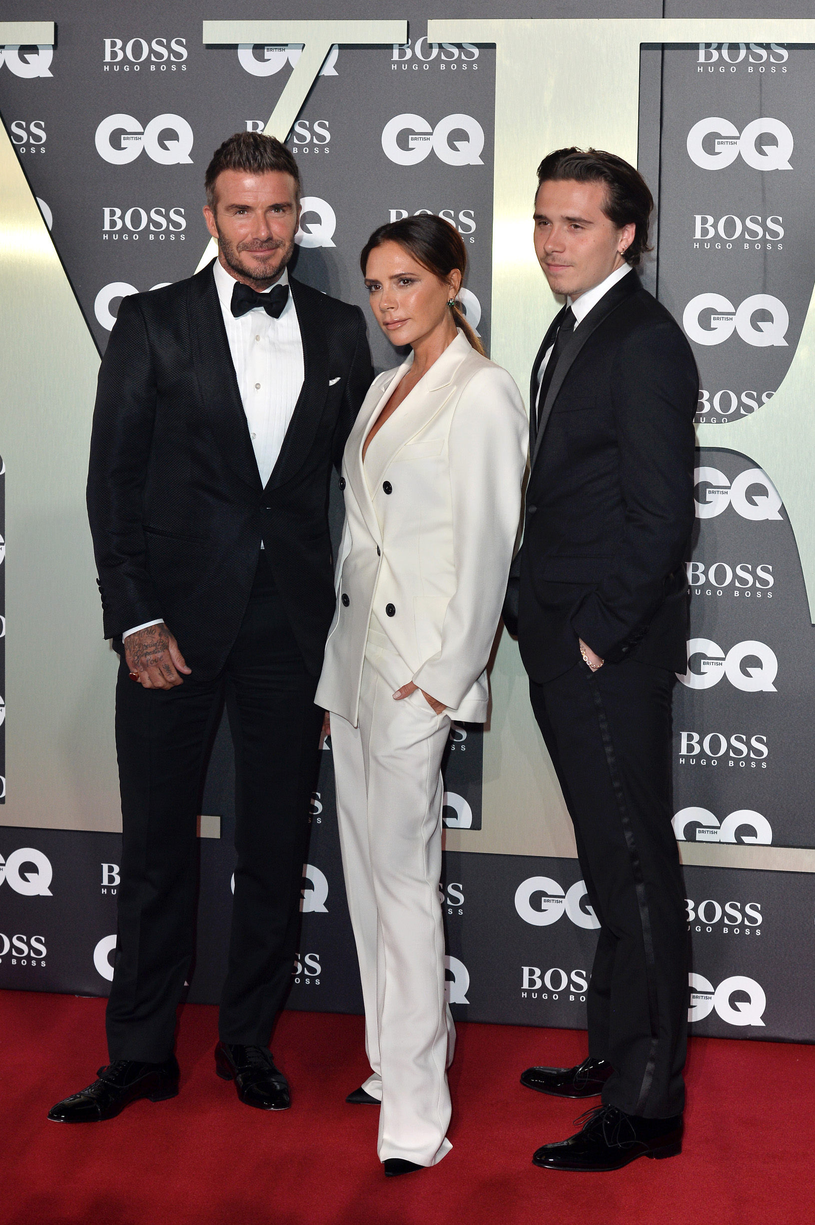 David, Victoria i sin Brooklyn Beckham