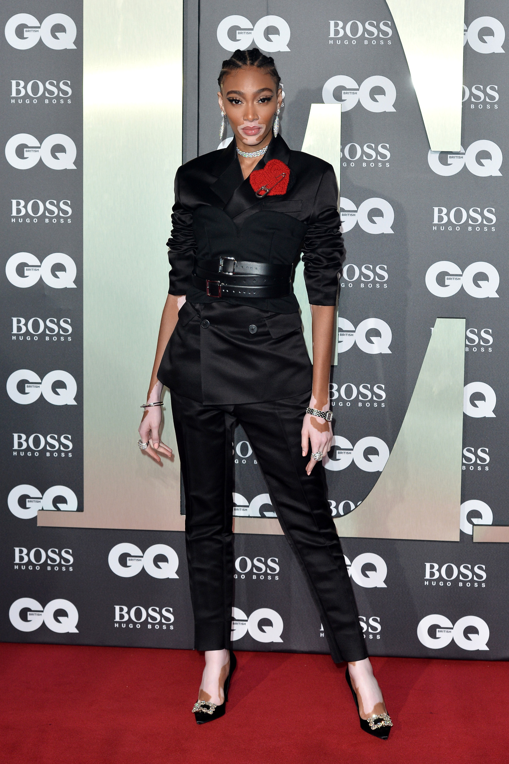 LONDON, ENGLAND - SEPTEMBER 03: Winnie Harlow attends the GQ Men Of The Year Awards 2019 at Tate Modern on September 03, 2019 in London, England. (Photo by Jeff Spicer/Getty Images)
