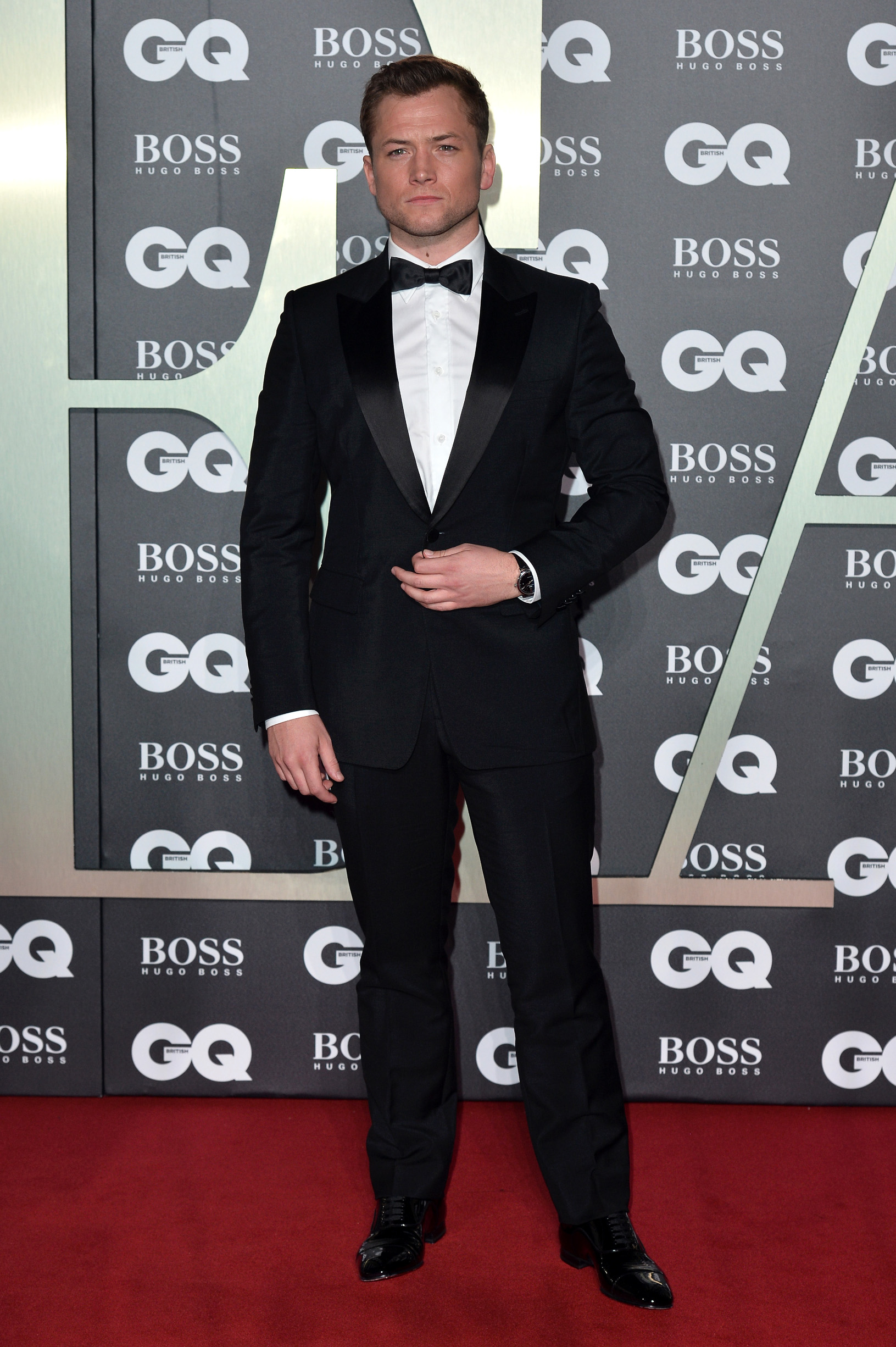 LONDON, ENGLAND - SEPTEMBER 03: Taron Egerton attends the GQ Men Of The Year Awards 2019 at Tate Modern on September 03, 2019 in London, England. (Photo by Jeff Spicer/Getty Images)