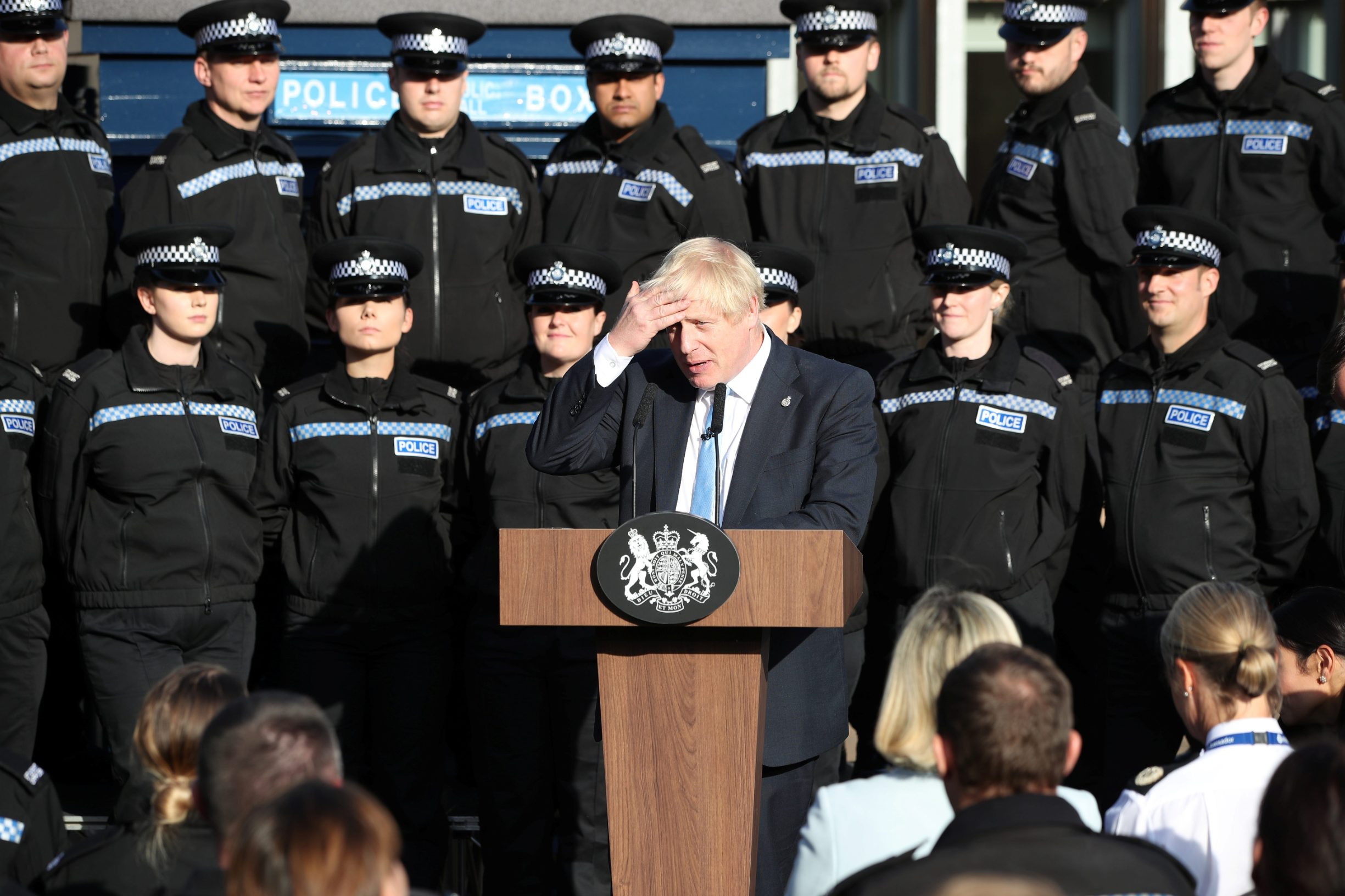 Britain's Prime Minister Boris Johnson, makes a speech during a visit to West Yorkshire, Britain September 5, 2019. Danny Lawson/PA Wire/Pool via REUTERS
