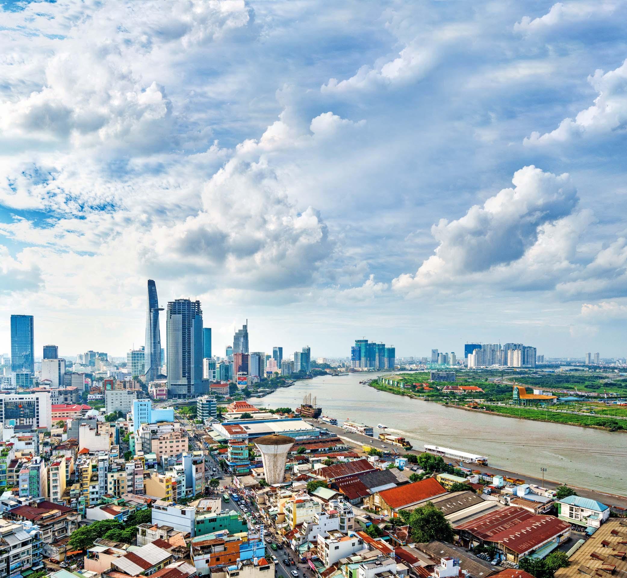 Panorama Ho Chi Minha, najvećeg vijetnamskoga grada