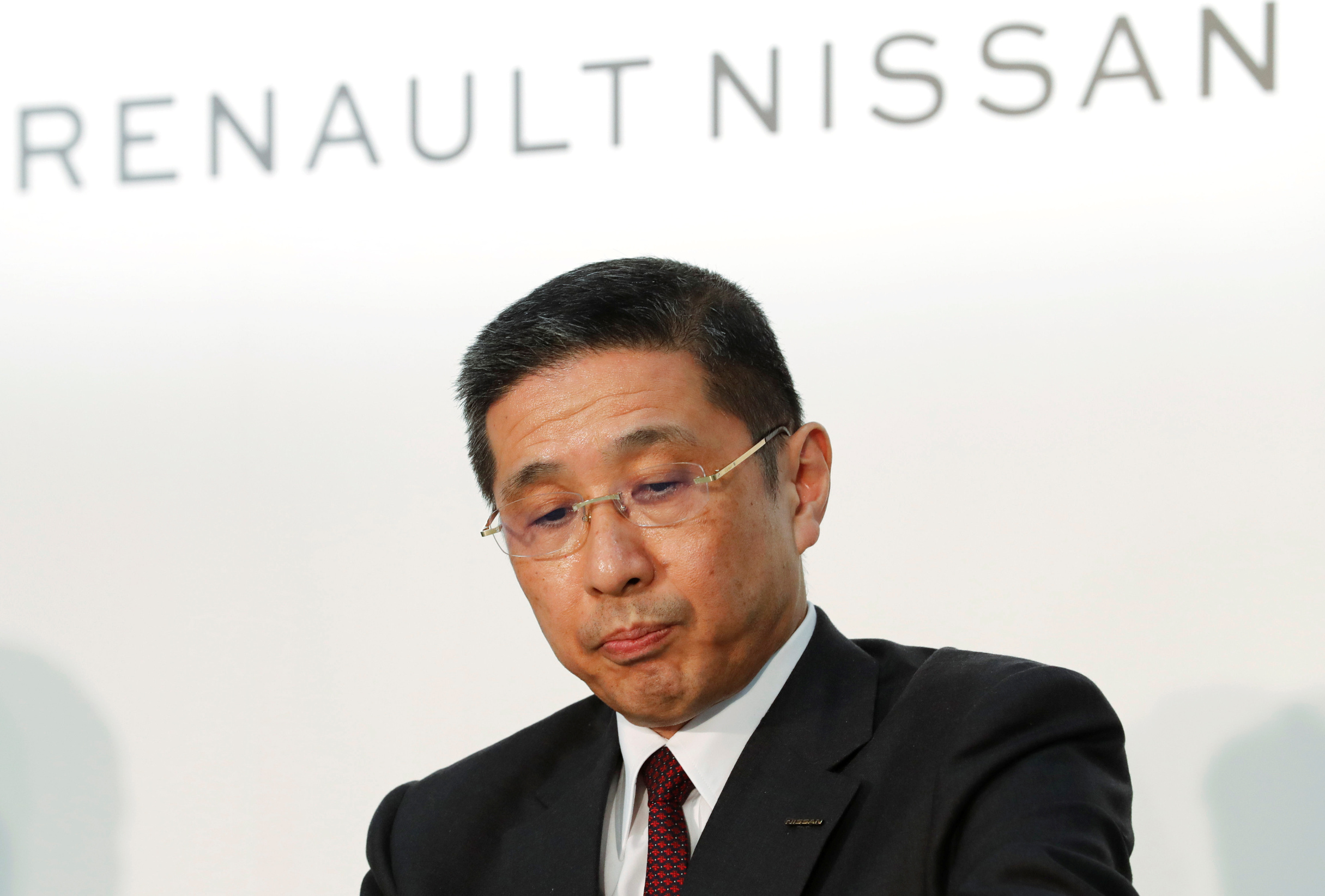 Nissan CEO Hiroto Saikawa attends a joint news conference in Yokohama, Japan, March 12, 2019. REUTERS/Kim Kyung-Hoon - RC1E38D9E7A0
