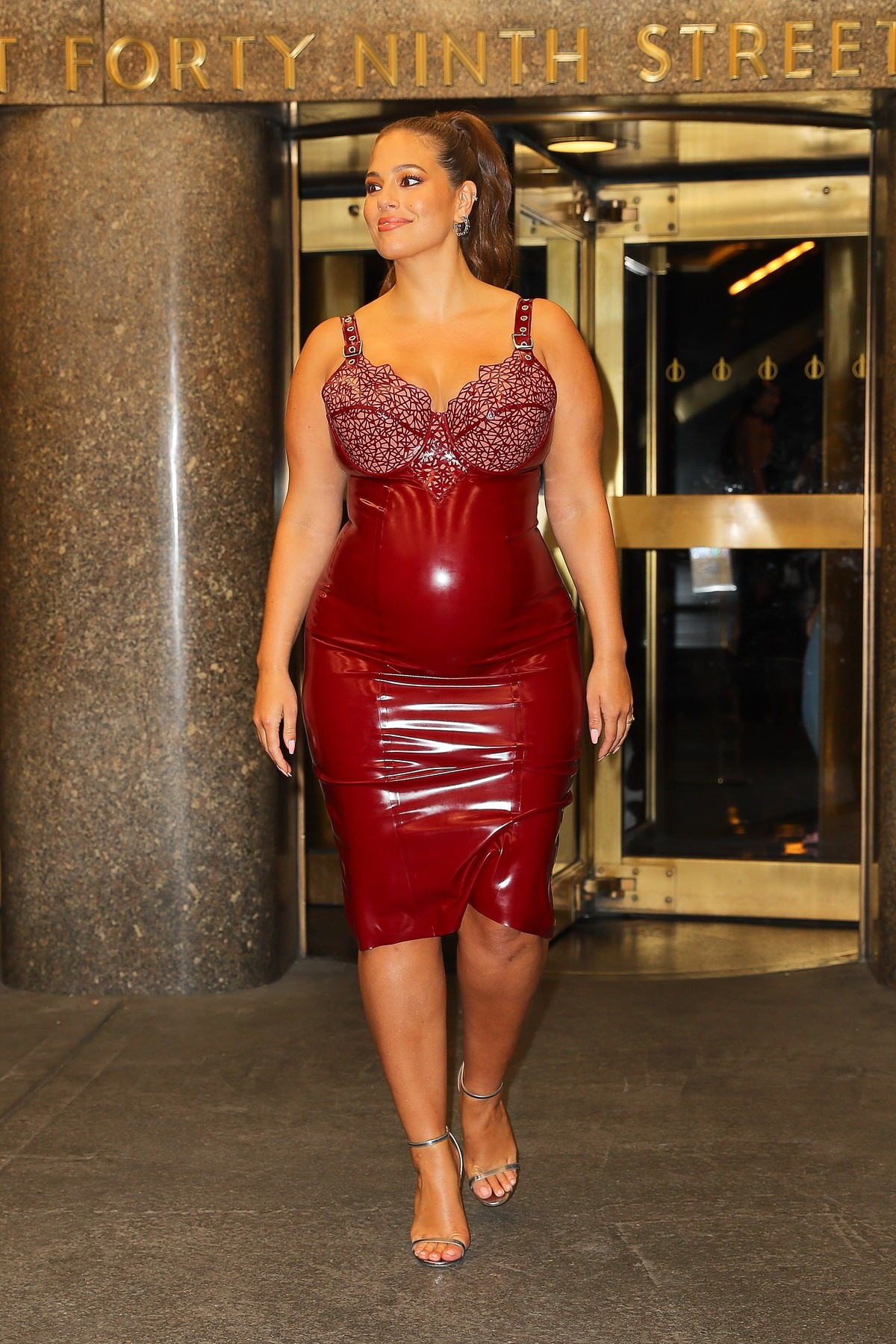 Ashley Graham seen leaving The Rainbow Room after attending The Daily Media Awards in NYC. 05 Sep 2019, Image: 469381885, License: Rights-managed, Restrictions: World Rights, Model Release: no, Credit line: Profimedia, Mega Agency