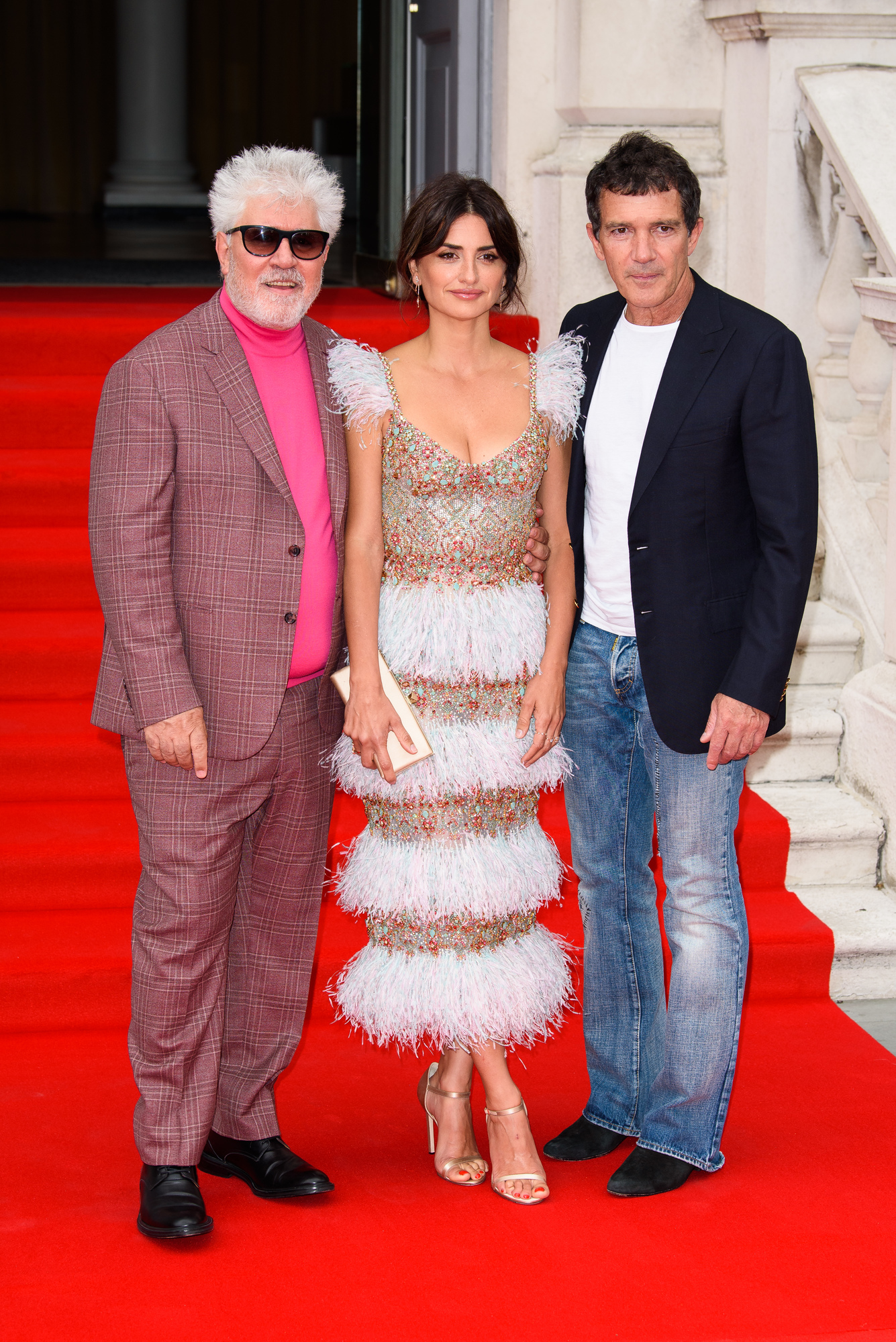 LONDON, ENGLAND - AUGUST 08: Pedro Almodovar, Penelope Cruz and Antonio Banderas attend the