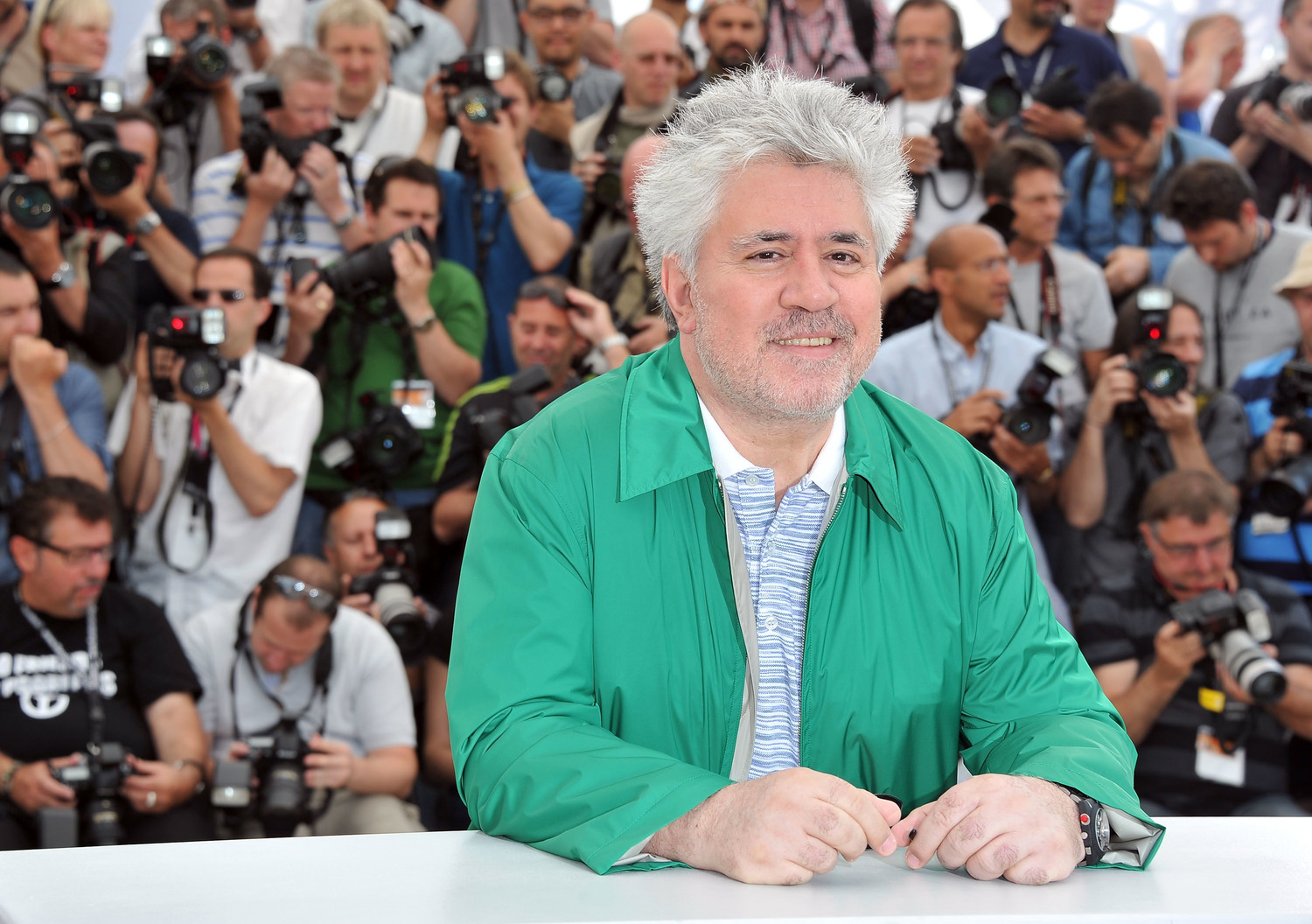 CANNES, FRANCE - MAY 19:  Director Pedro Almodovar attends