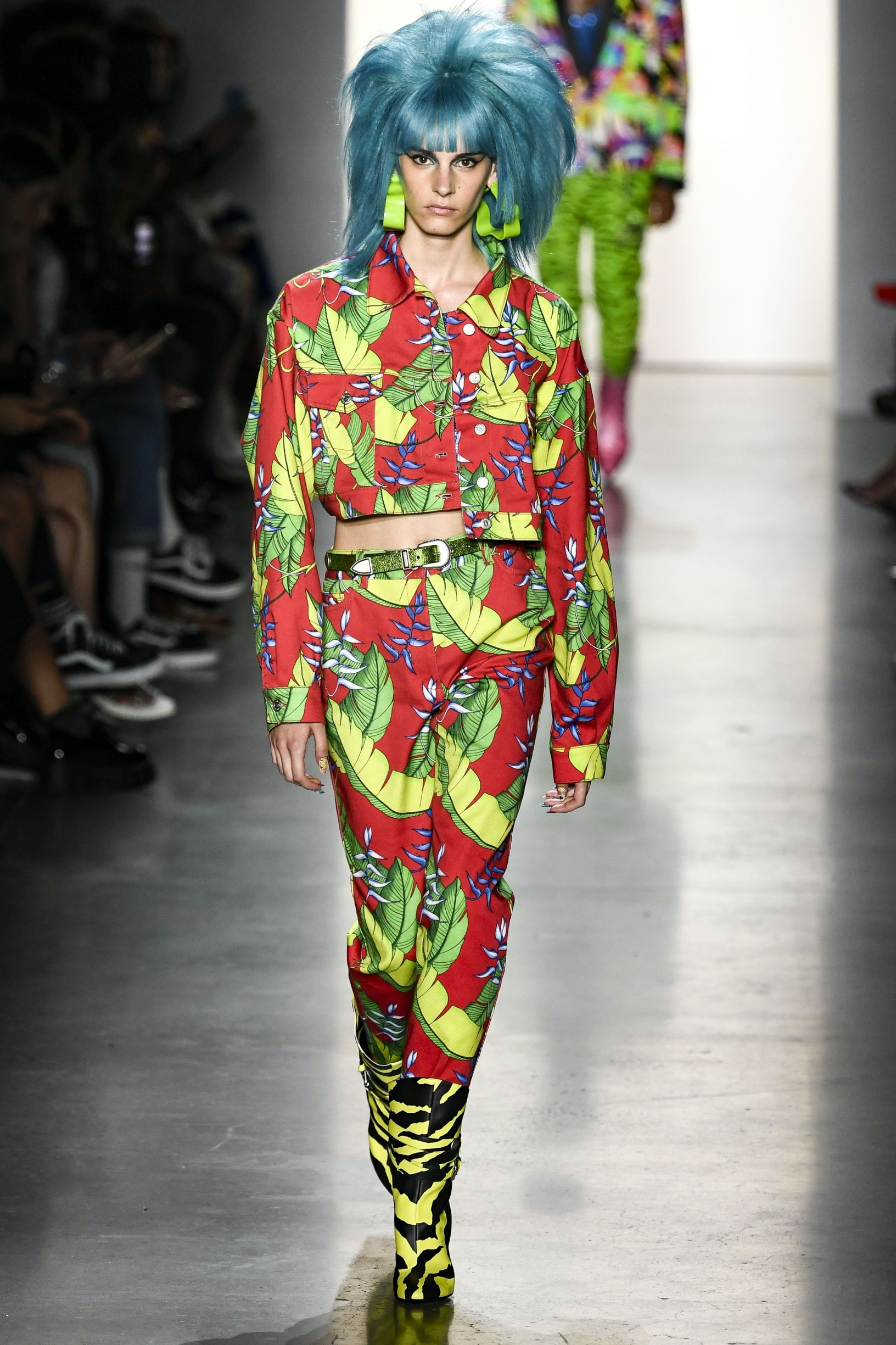 A Model wearing an outfit from the women's ready to wear collections, summer 2020, original creation, during the Fashion Week in New York, from the house of Jeremy Scott//Z-PIXEL-FORMULA_A_118/1909070621/Credit:Pixelformula/SIPA/1909071022, Image: 469566501, License: Rights-managed, Restrictions: , Model Release: no, Credit line: Profimedia, Sipa Press