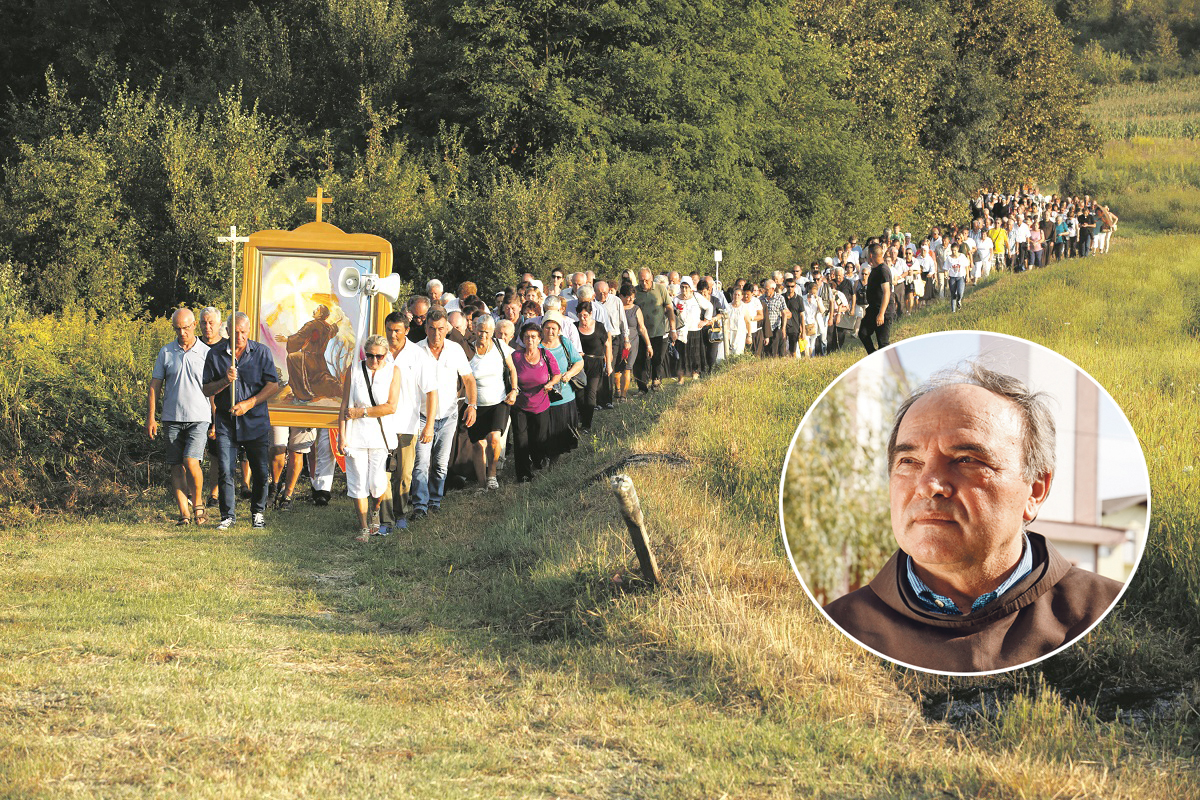 Beatifikacija fra Lovre Milanovića i procesiji povodom Mlade nedjelje fra Lovre. Marijan Karaula (u krugu)
