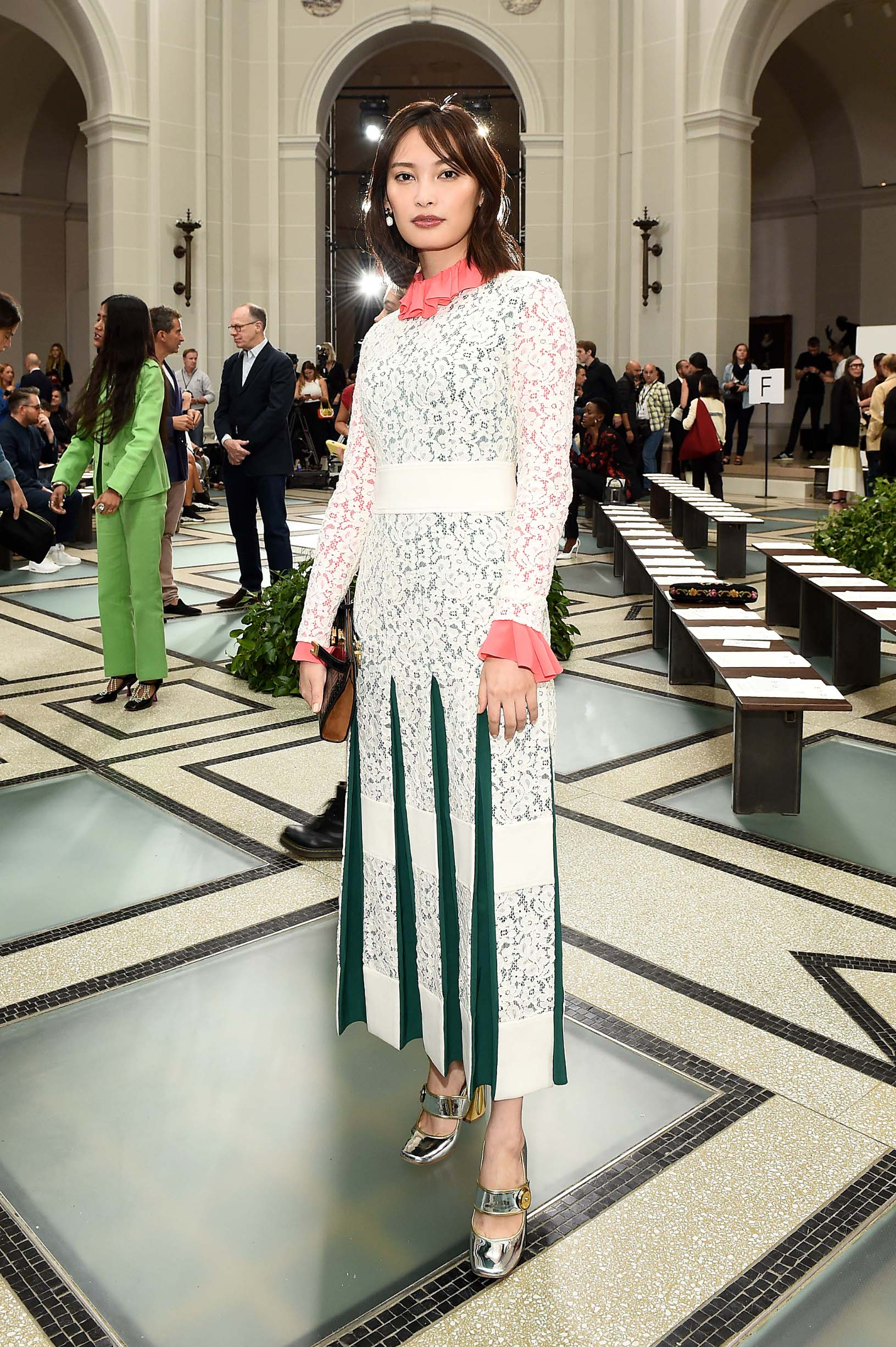 BROOKLYN, NEW YORK - SEPTEMBER 08: Aya Omasa attends Tory Burch NYFW SS20 at the Brooklyn Museum on September 08, 2019 in Brooklyn City. (Photo by Ilya S. Savenok/Getty Images for Tory Burch)