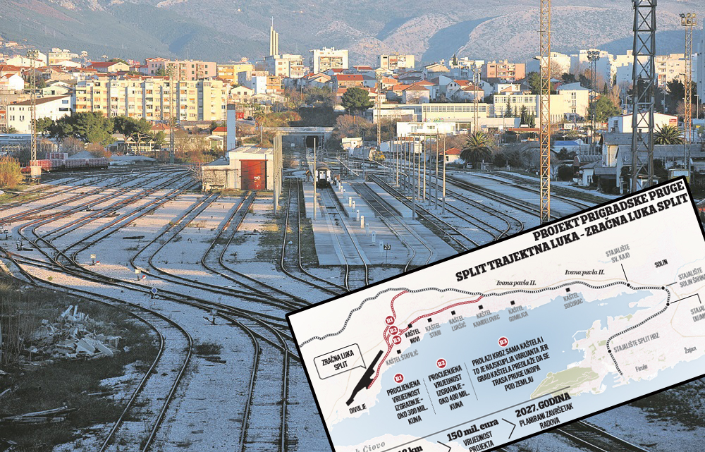 Koldovor u Splitu i projekcija nove pruge do Zračne luke Split
