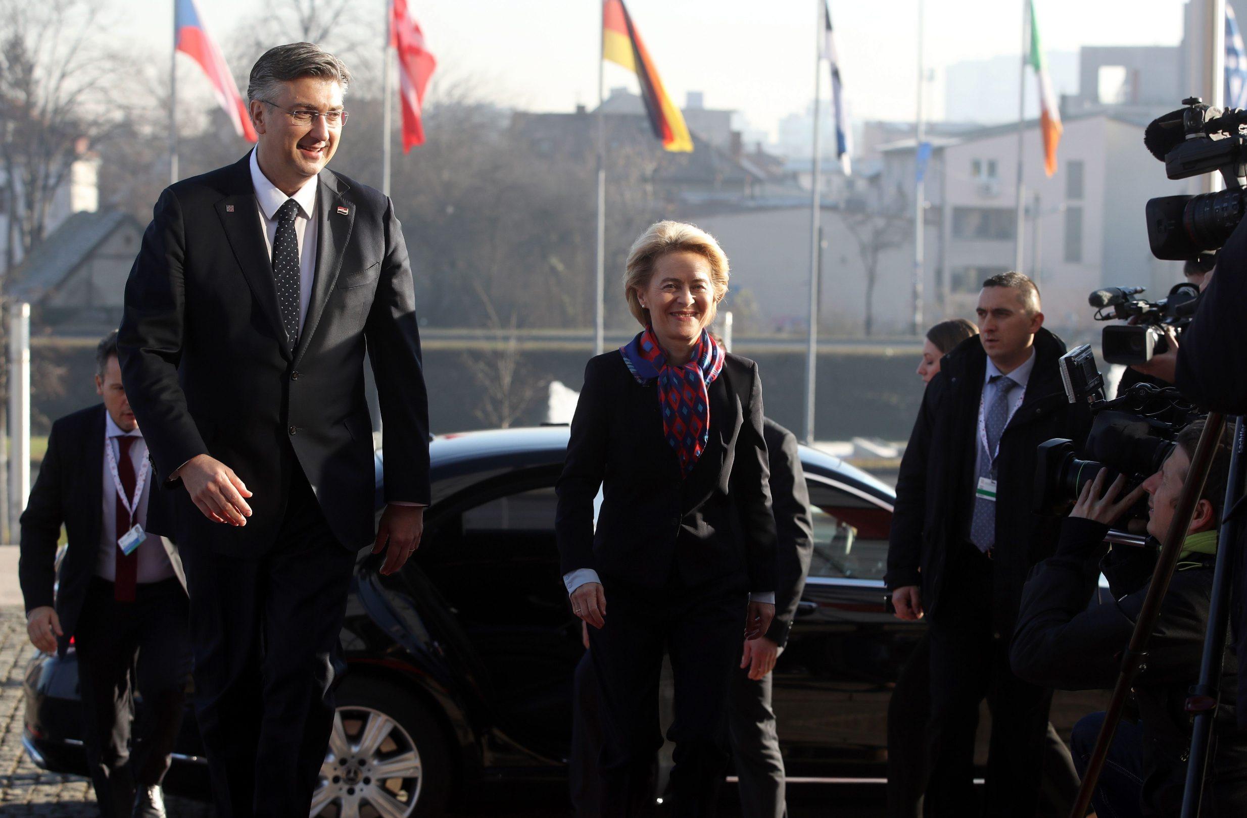 Dolazak Premijera Andreja Plenkovića i predsjednice Europske komisije Ursule von der Leyen u Nacionalnu i sveučilišnu knjižnicu u Zagrebu