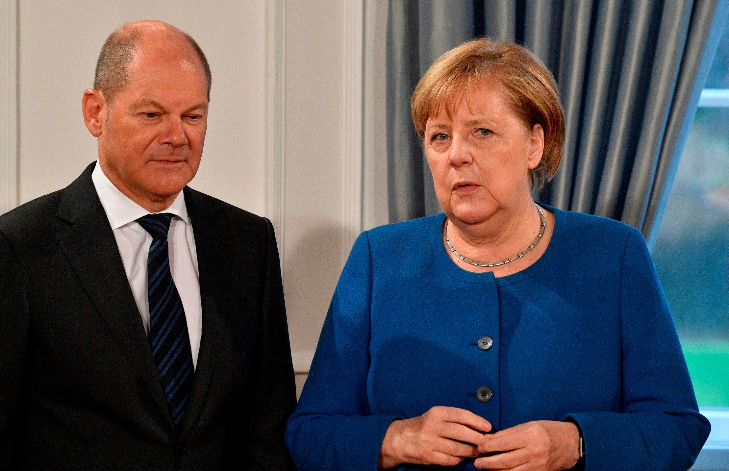 Angela Merkel i njemački ministar financija Olaf Scholz