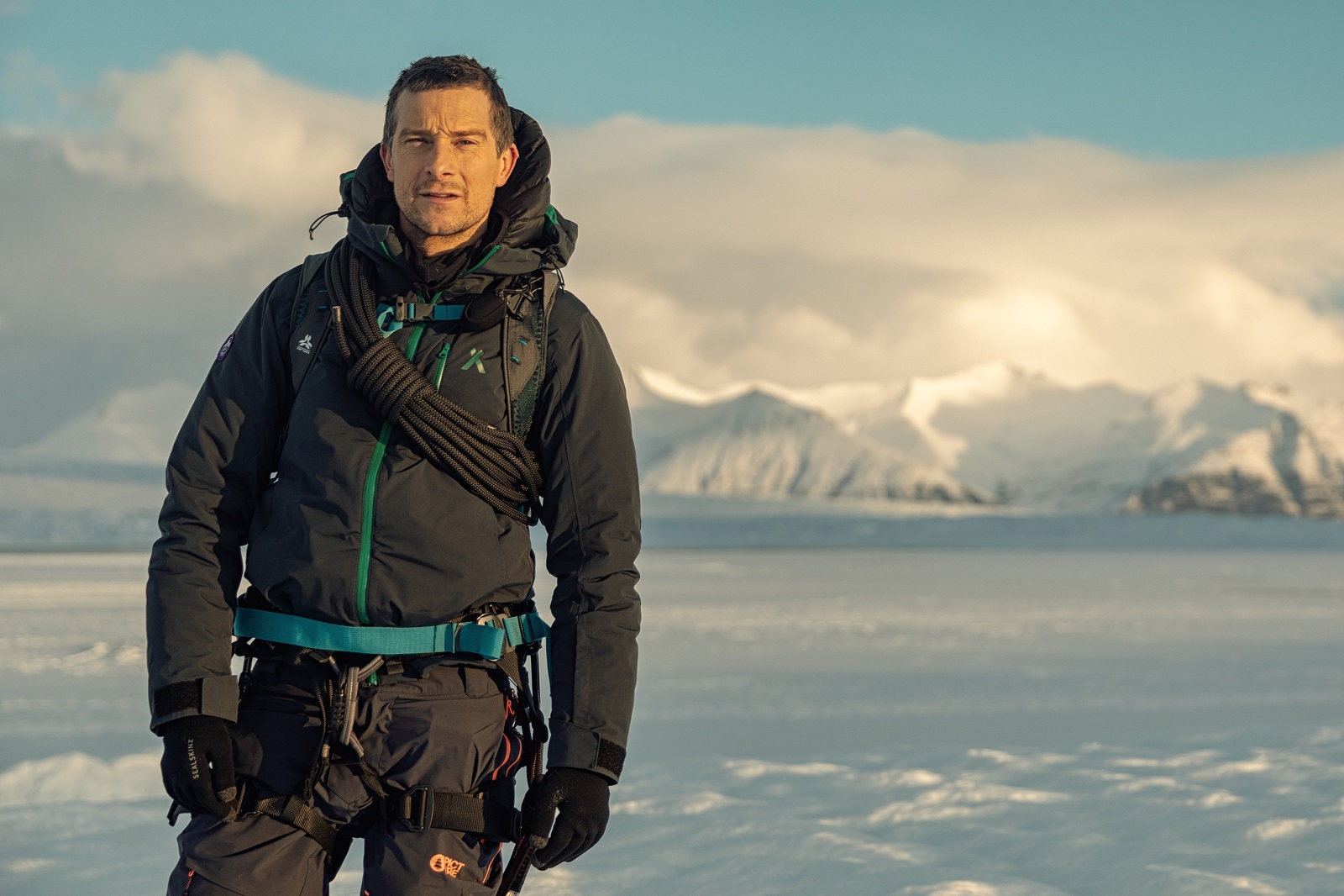 Iceland - Bear Grylls of National Geographic's RUNNING WILD WITH BEAR GRYLLS in Iceland. (National Geographic/Ben Simms)