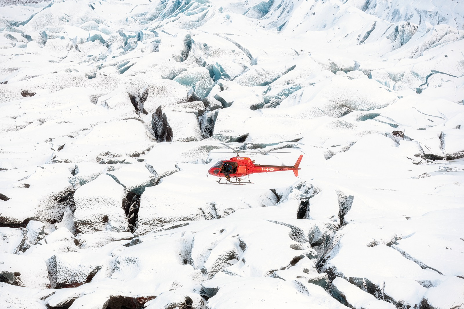 Iceland - Helicopter in Iceland for National Geographic's RUNNING WILD WITH BEAR GRYLLS. (National Geographic/Ben Simms)