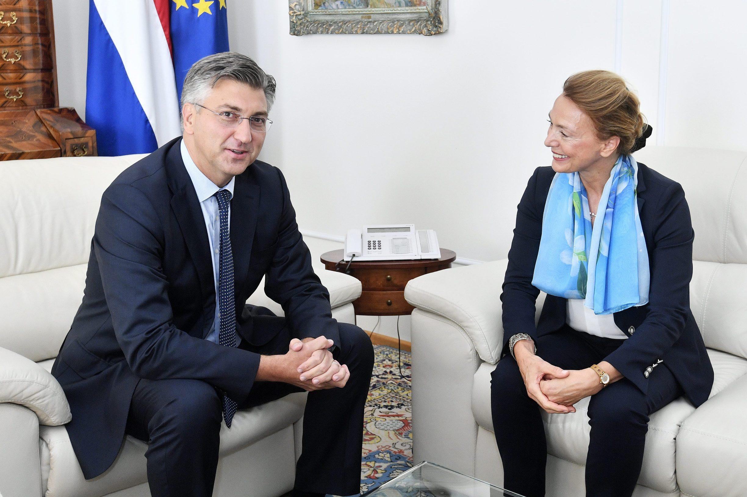 Andrej Plenković i Marija Pejčinović-Burić