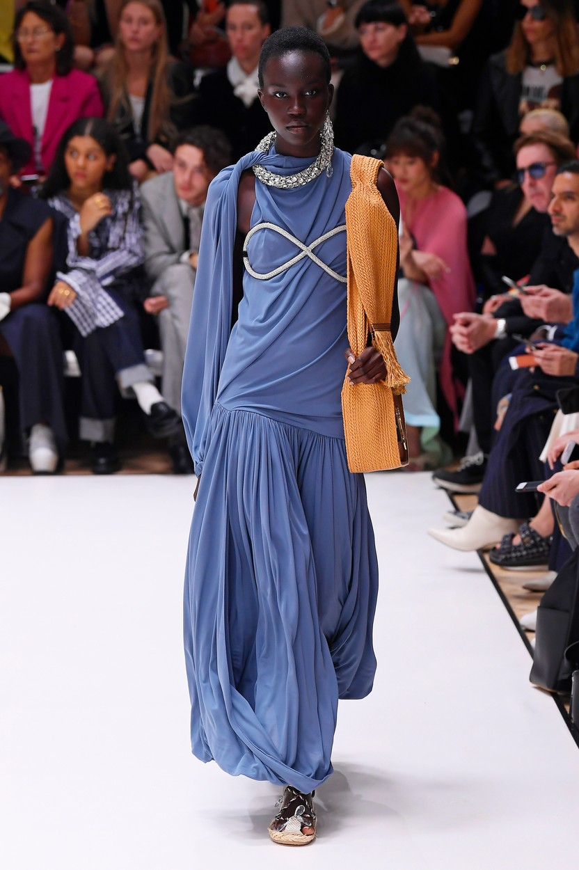 Model on the catwalk JW Anderson show, Runway, Spring Summer 2020, London Fashion Week, UK - 16 Sep 2019, Image: 471140574, License: Rights-managed, Restrictions: , Model Release: no, Credit line: WWD / Shutterstock Editorial / Profimedia