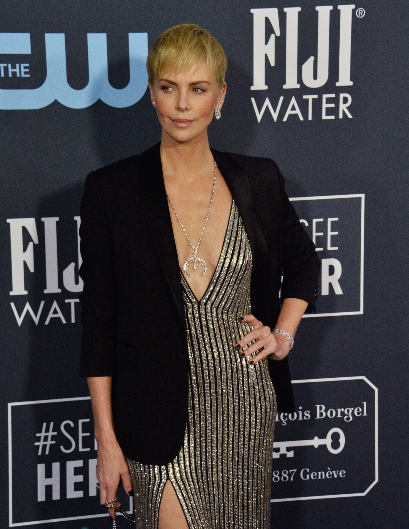 Actress Charlize Theron attends the 25th annual Critics' Choice Awards at Barker Hanger in Santa Monica, California on Sunday, January 12, 2020. Photo by /UPI, Image: 492385991, License: Rights-managed, Restrictions: , Model Release: no, Credit line: JIM RUYMEN / UPI / Profimedia