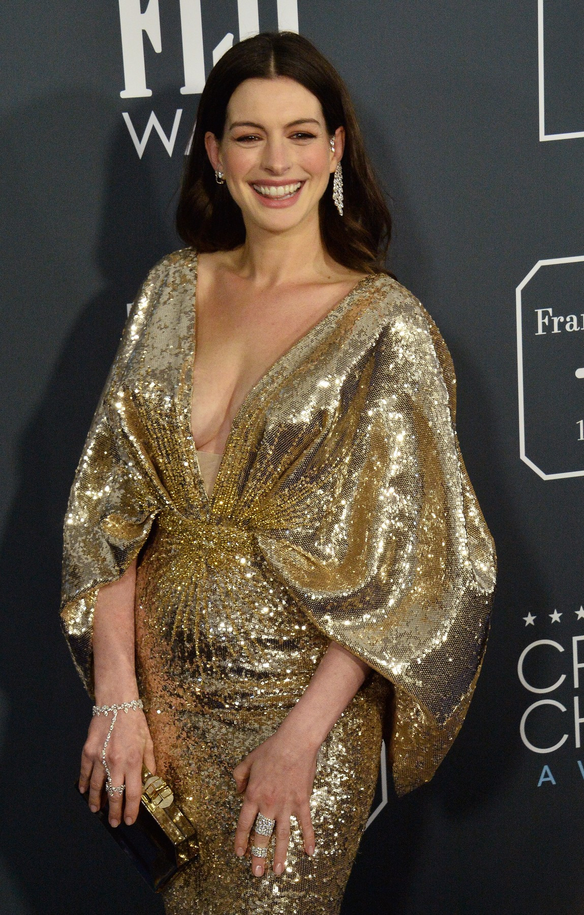 Actress Anne Hathaway attends the 25th annual Critics' Choice Awards at Barker Hanger in Santa Monica, California on Sunday, January 12, 2020. Photo by /UPI, Image: 492386058, License: Rights-managed, Restrictions: , Model Release: no, Credit line: JIM RUYMEN / UPI / Profimedia