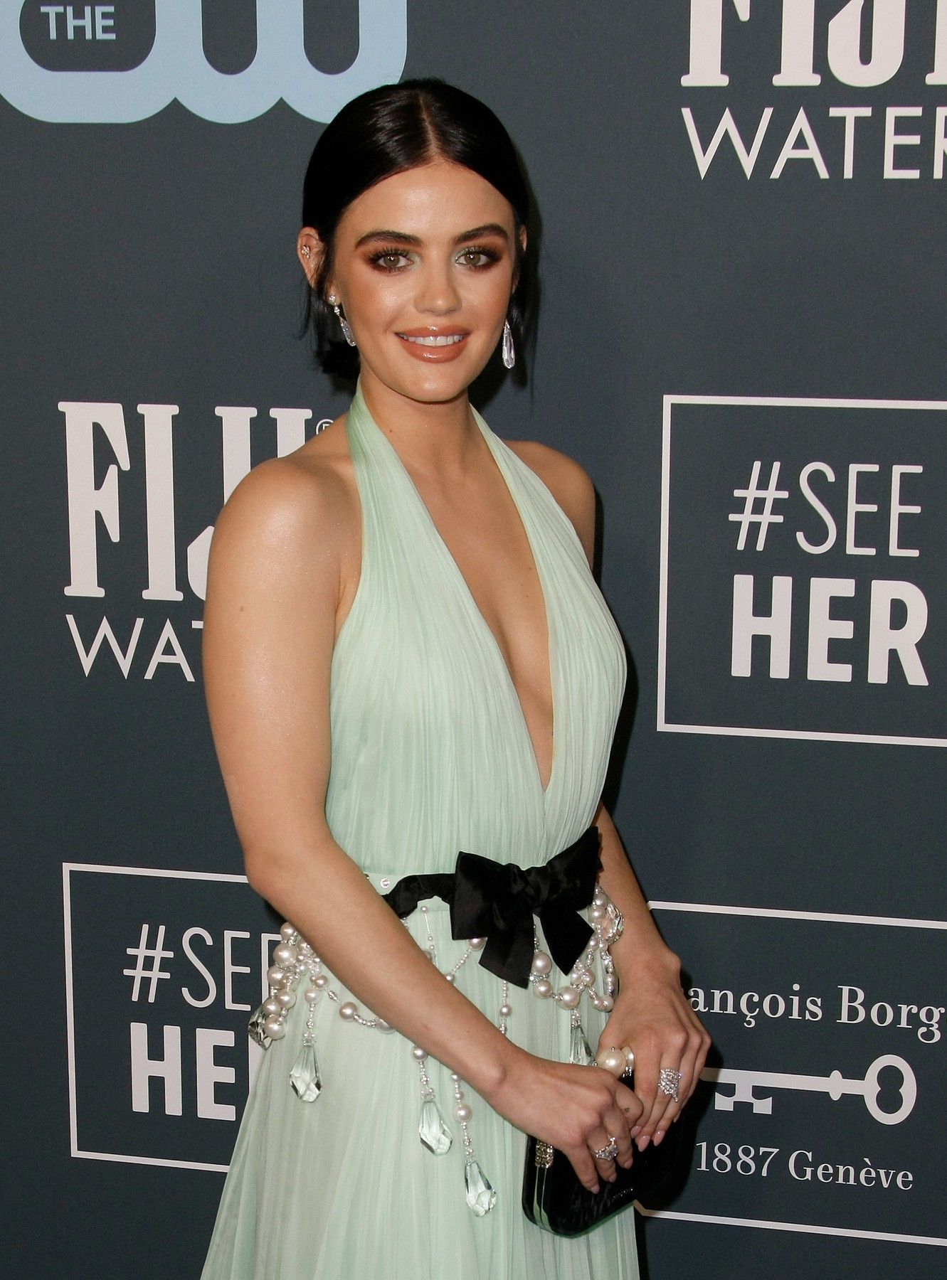 Lucy Hale 25th Annual Critics' Choice Awards, Arrivals, Barker Hanger, Los Angeles, USA - 12 Jan 2020, Image: 492412693, License: Rights-managed, Restrictions: , Model Release: no, Credit line: CraSH/imageSPACE / Shutterstock Editorial / Profimedia