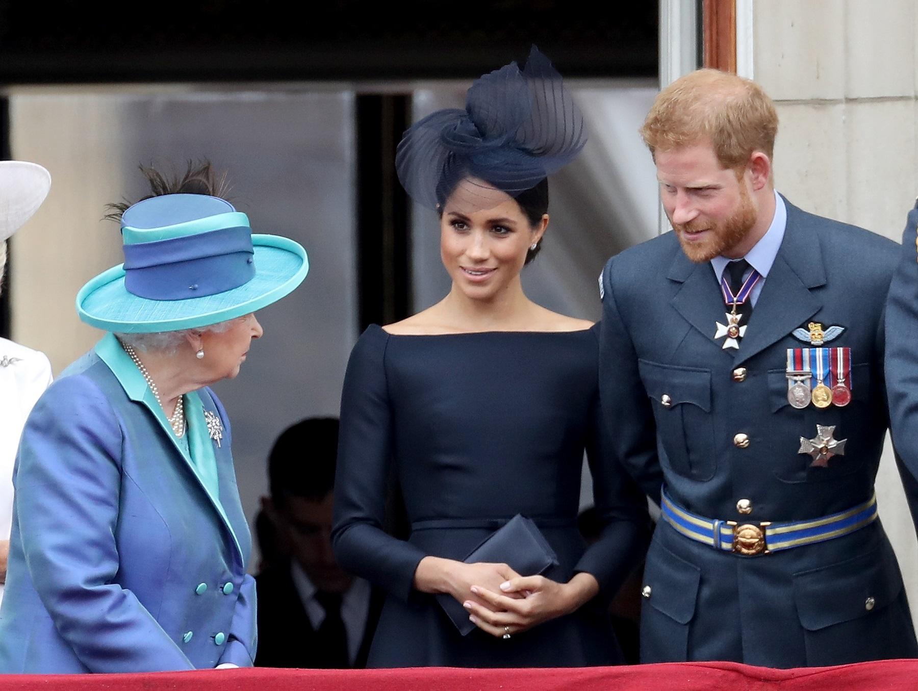 Princ Harry, Meghan Markle i kraljica Elizabeta II