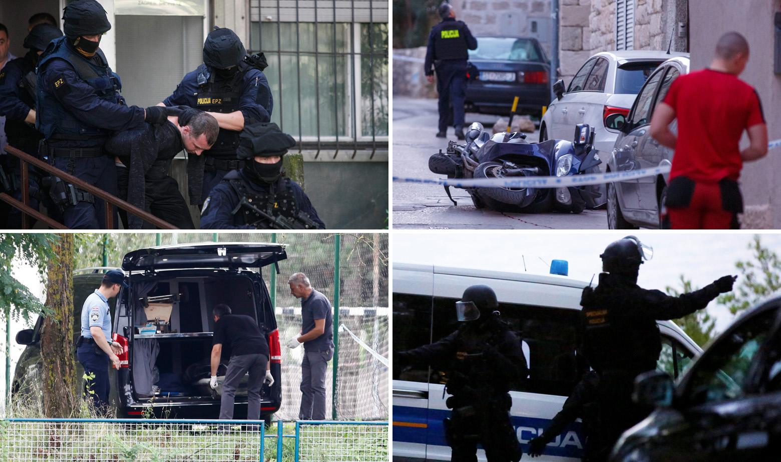 Ilustracija: policijske akcije na području Zagreba (lijevo) i na području Splita (desno)